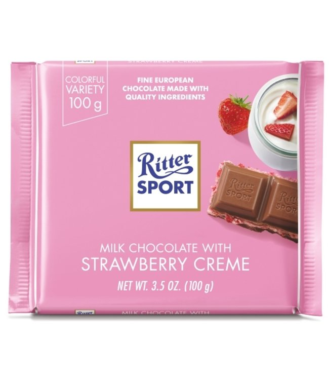 Ritter Milk Chocolate Strawberry Cream Bar