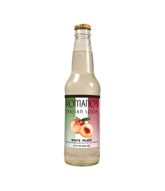 Orca Beverage Soda Company Romanos Italian Soda White Peach