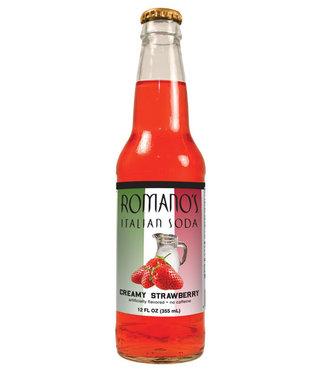 Orca Beverage Soda Company Romanos Italian Soda Creamy Strawberry