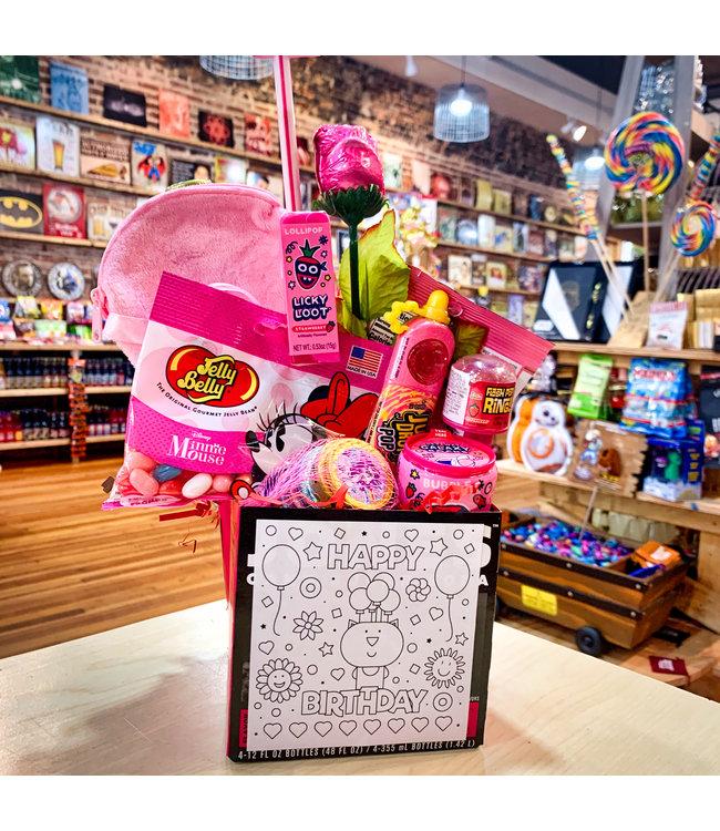 All Pink Birthday Basket