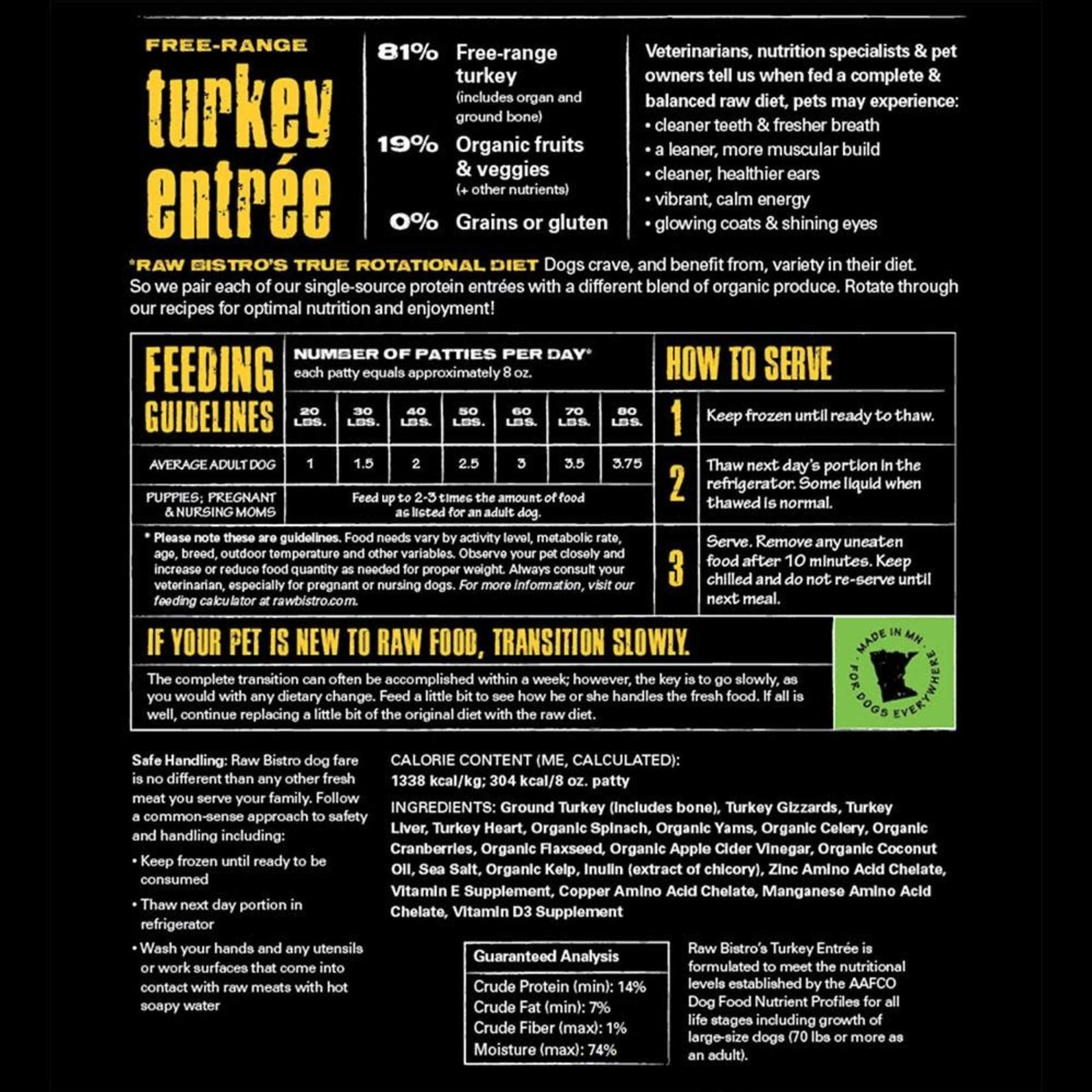 Raw Bistro Raw Bistro FZ Free Range Turkey 6#