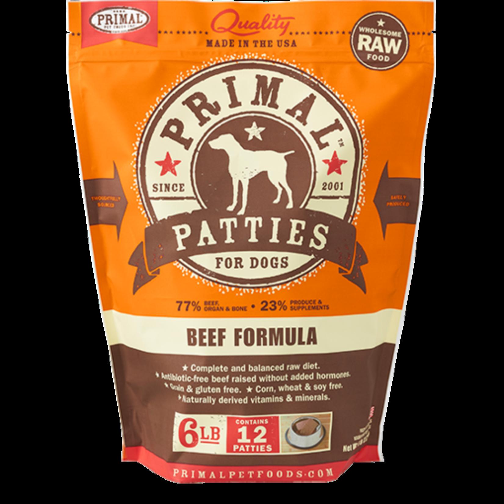 Primal Pet Foods Primal Dog Frozen Beef Patties 6#