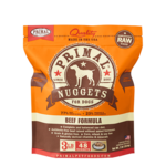 Primal Pet Foods Primal Dog Frozen Beef Nuggets 3#