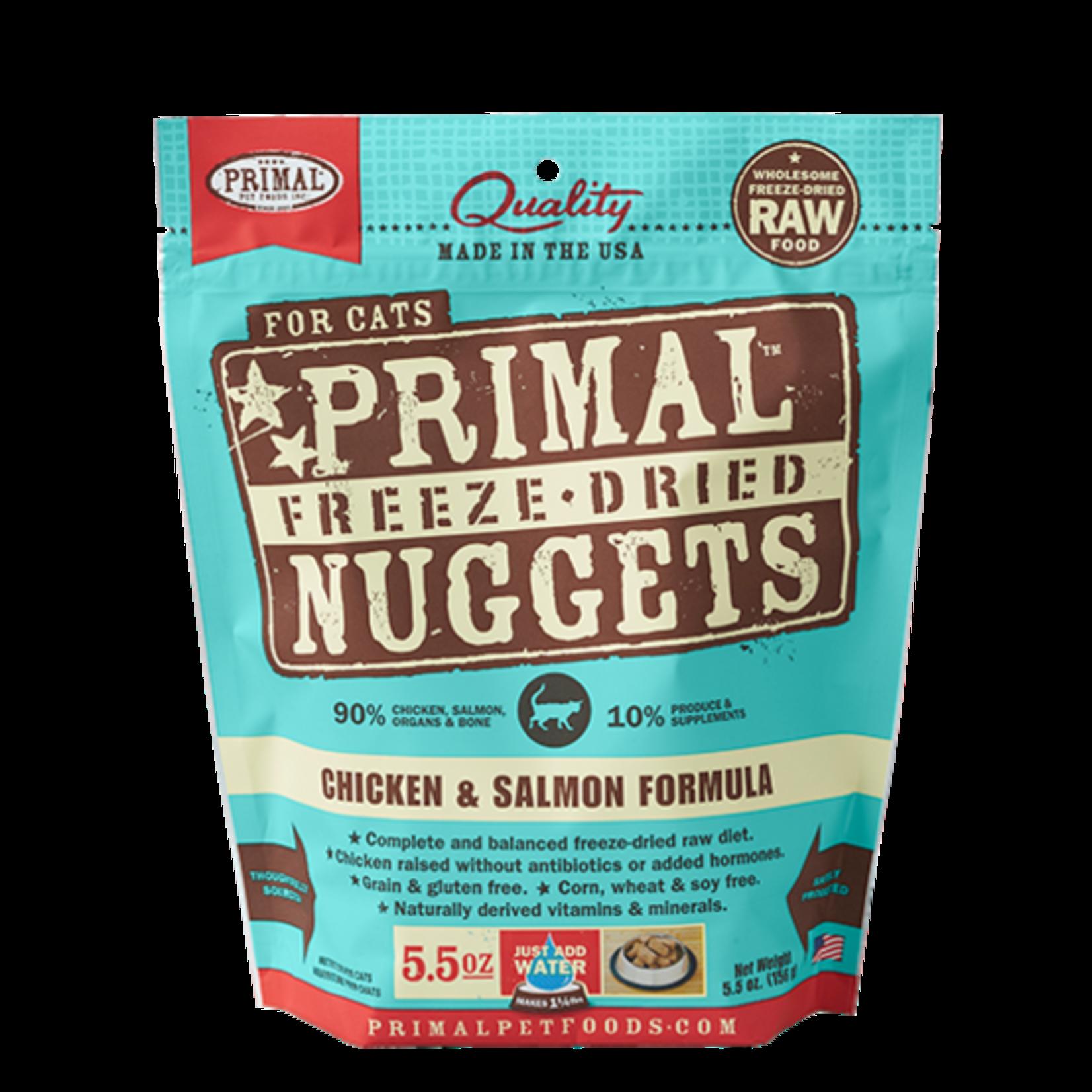 Primal Pet Foods Primal Cat Freeze-dried Chicken/Salmon 5.5 OZ