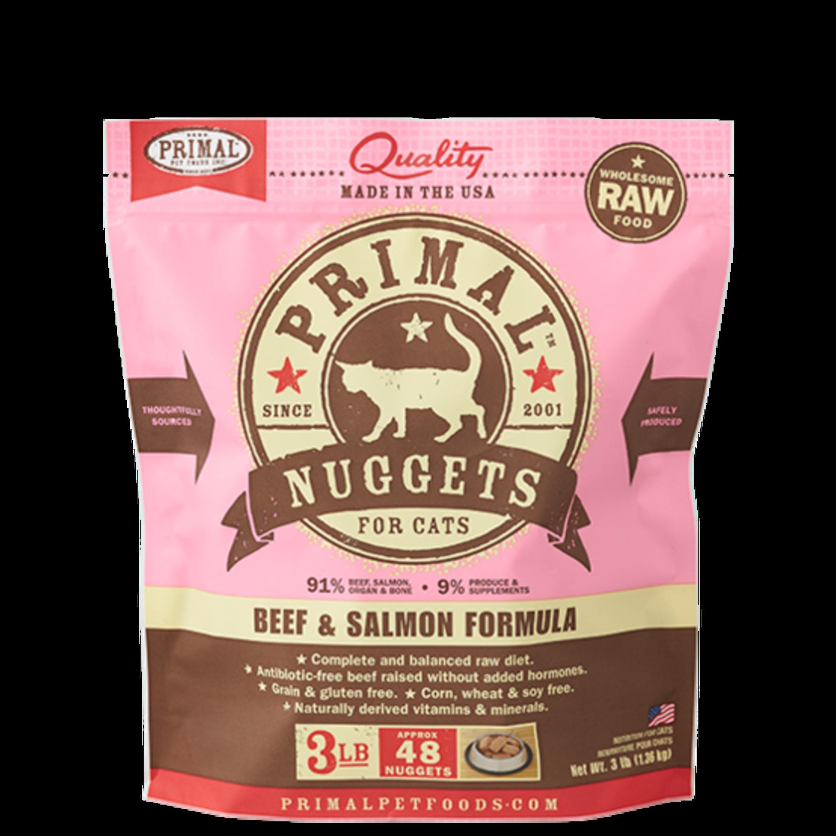 Primal Pet Foods Primal Cat Frozen Beef/Salmon 3#