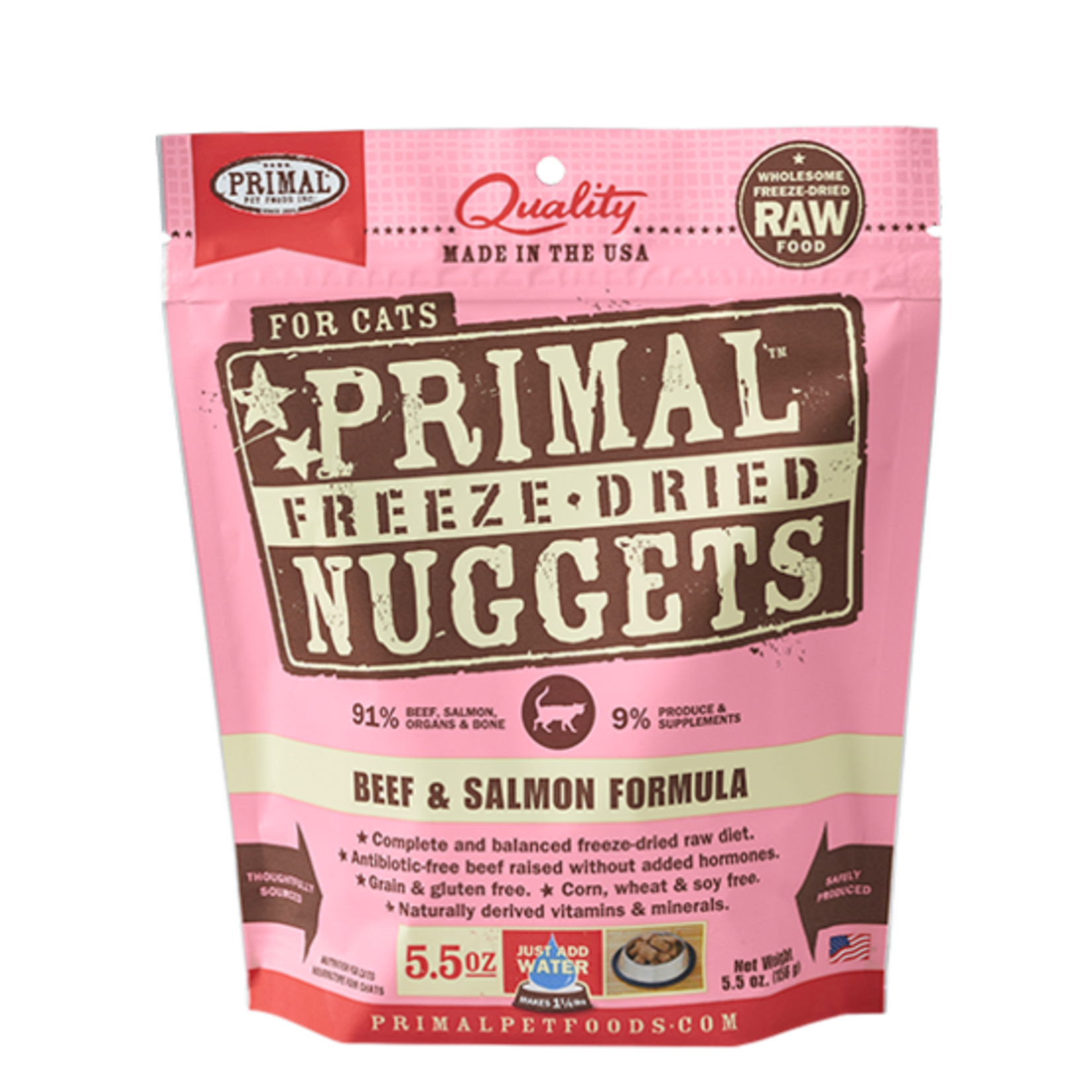 Primal Pet Foods Primal Cat Freeze-dried Beef/Salmon 5.5 OZ