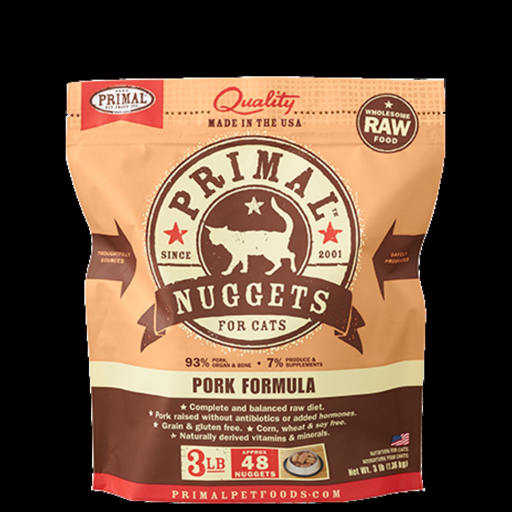 Primal Pet Foods Primal Cat Frozen Pork 3#