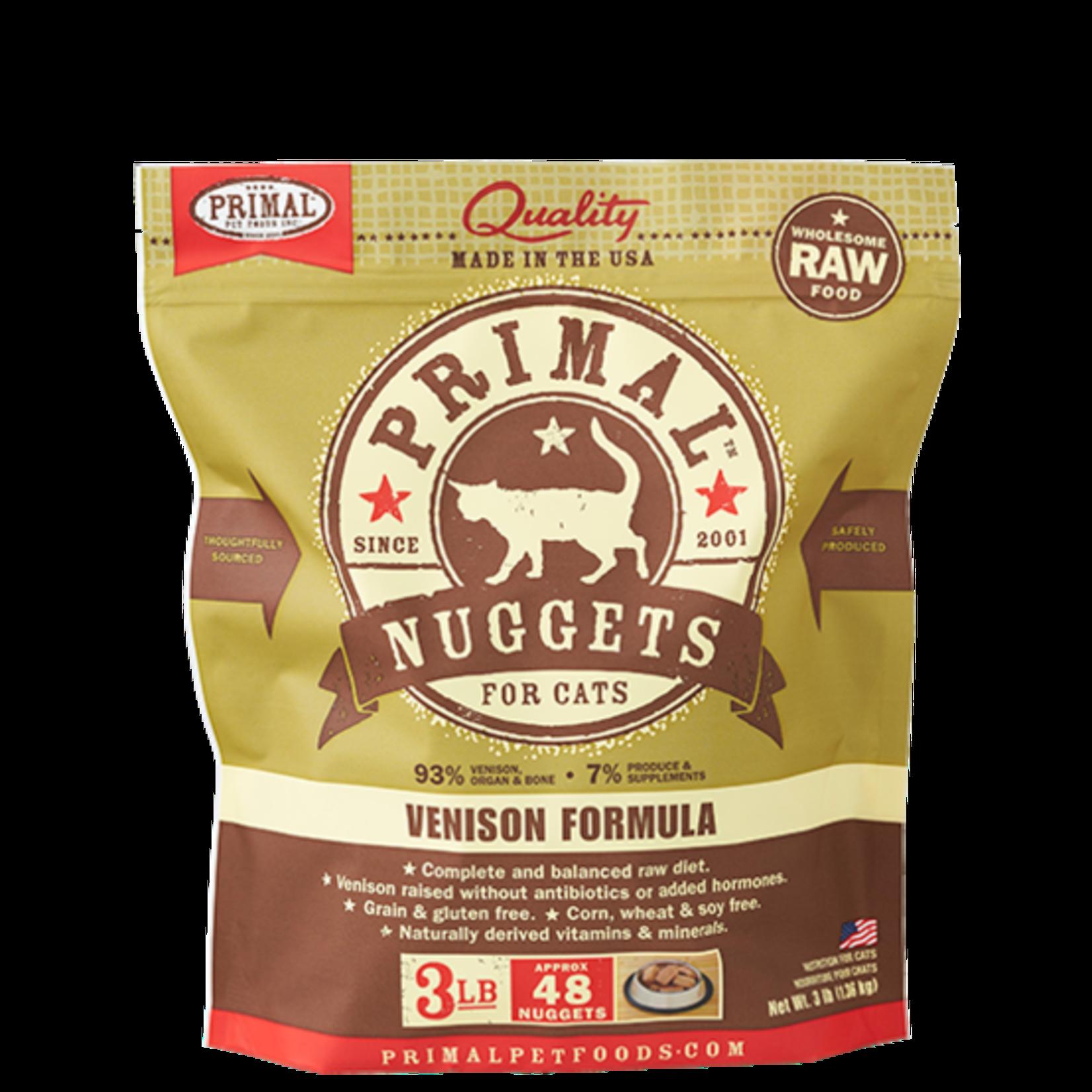 Primal Pet Foods Primal Cat Frozen Venison 3#