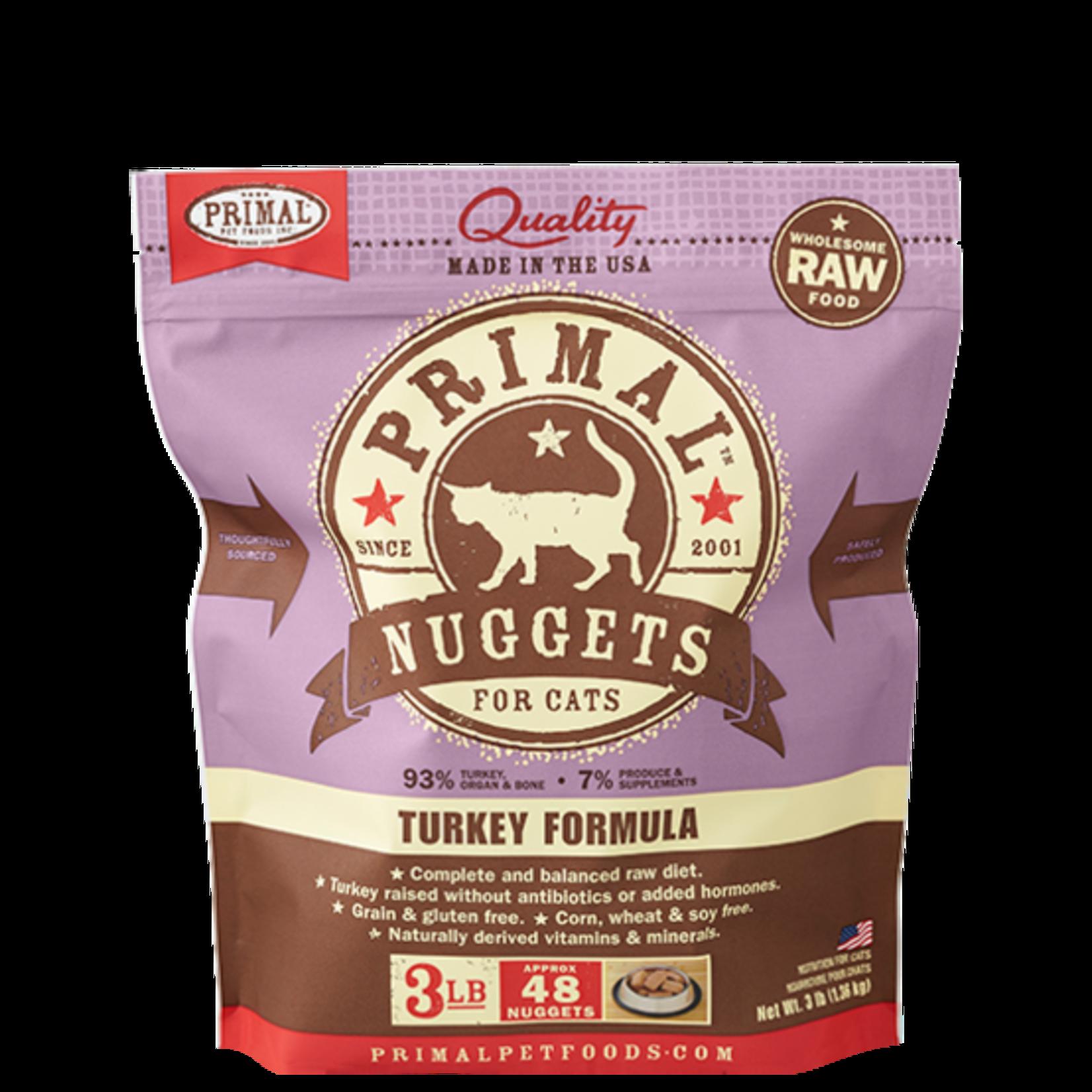 Primal Pet Foods Primal Cat Frozen Turkey 3#