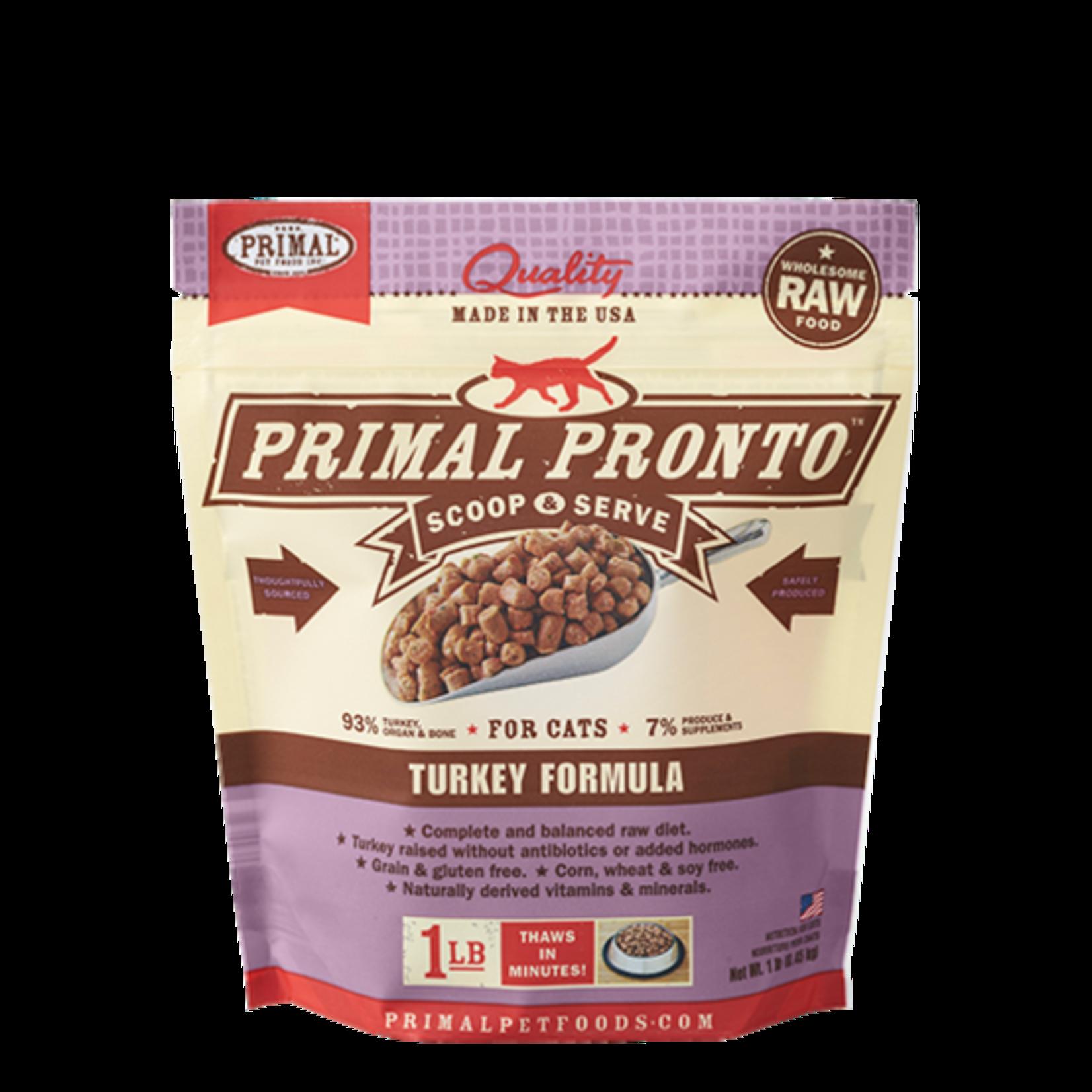 Primal Pet Foods Primal Cat Frozen PRONTO Turkey 1#