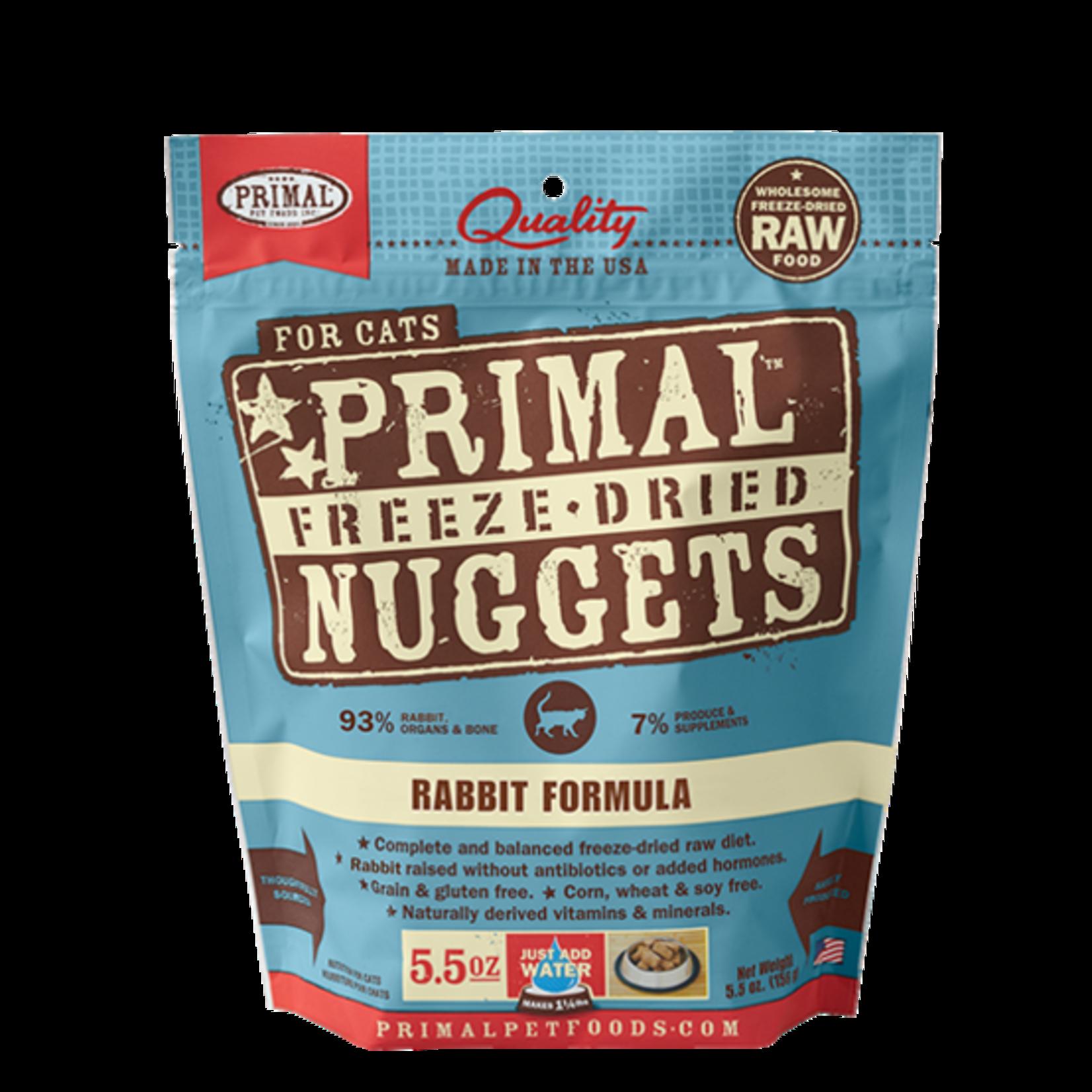 Primal Pet Foods Primal Cat Freeze-dried Rabbit 5.5 OZ