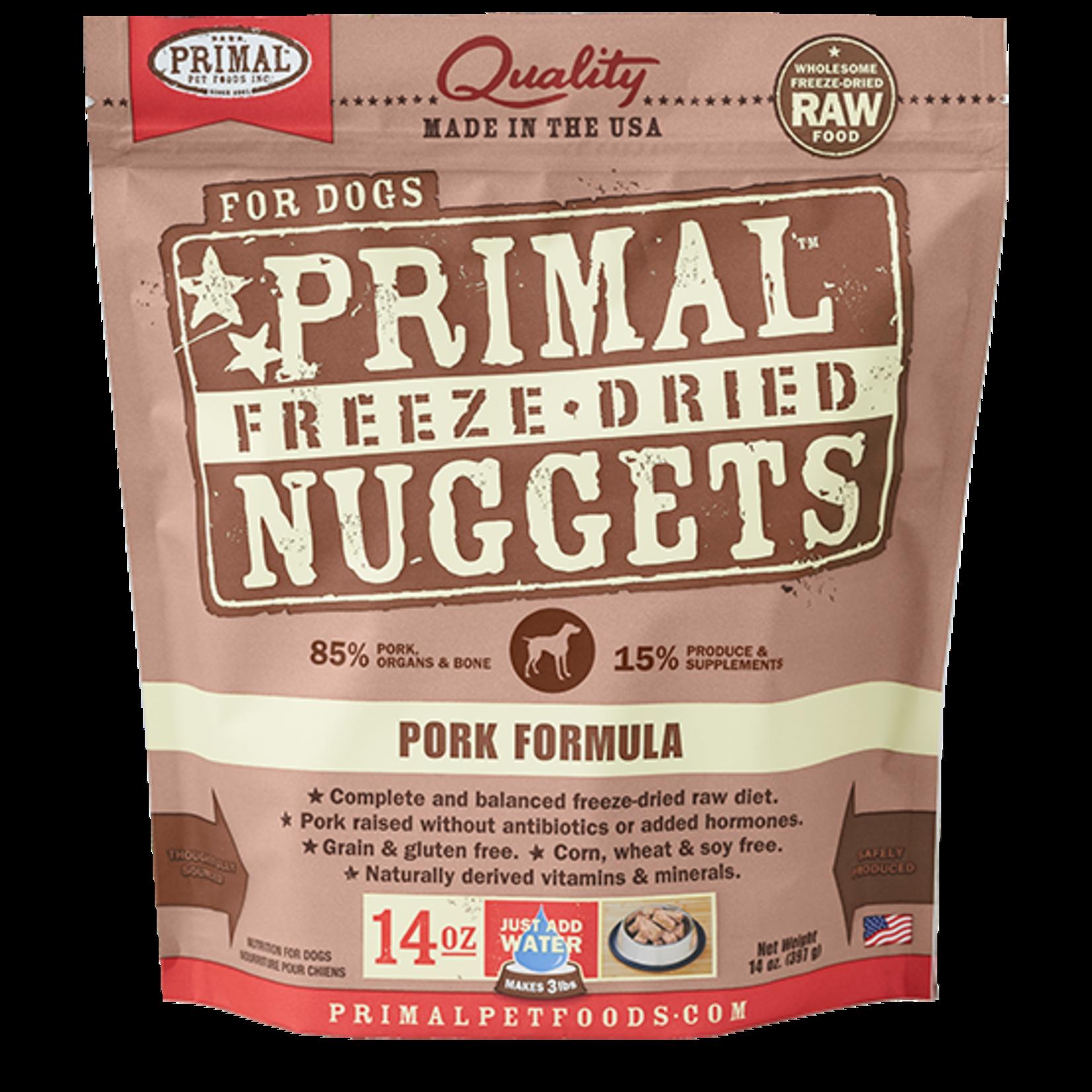 Primal Pet Foods Primal Dog Freeze-dried Pork Nuggets 14 OZ
