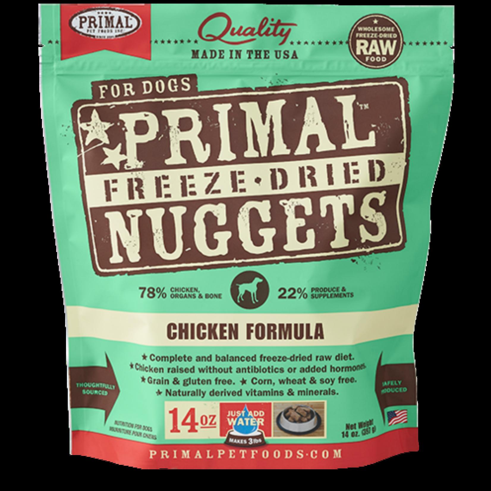 Primal Pet Foods Primal Dog Freeze-dried Chicken Nuggets 14 OZ