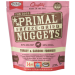 Primal Pet Foods Primal Dog Freeze-dried Turkey & Sardine Nuggets 14 OZ