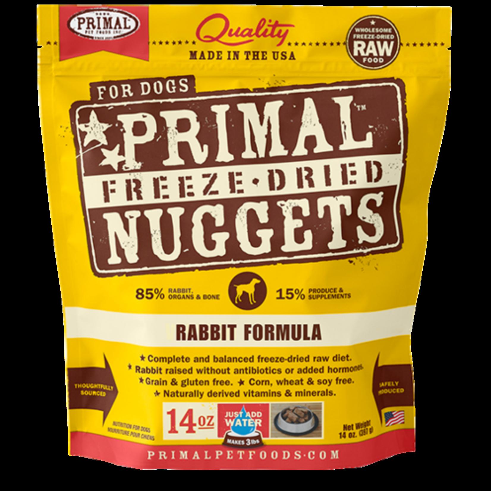 Primal Pet Foods Primal Dog Freeze-dried Rabbit Nuggets 14 OZ