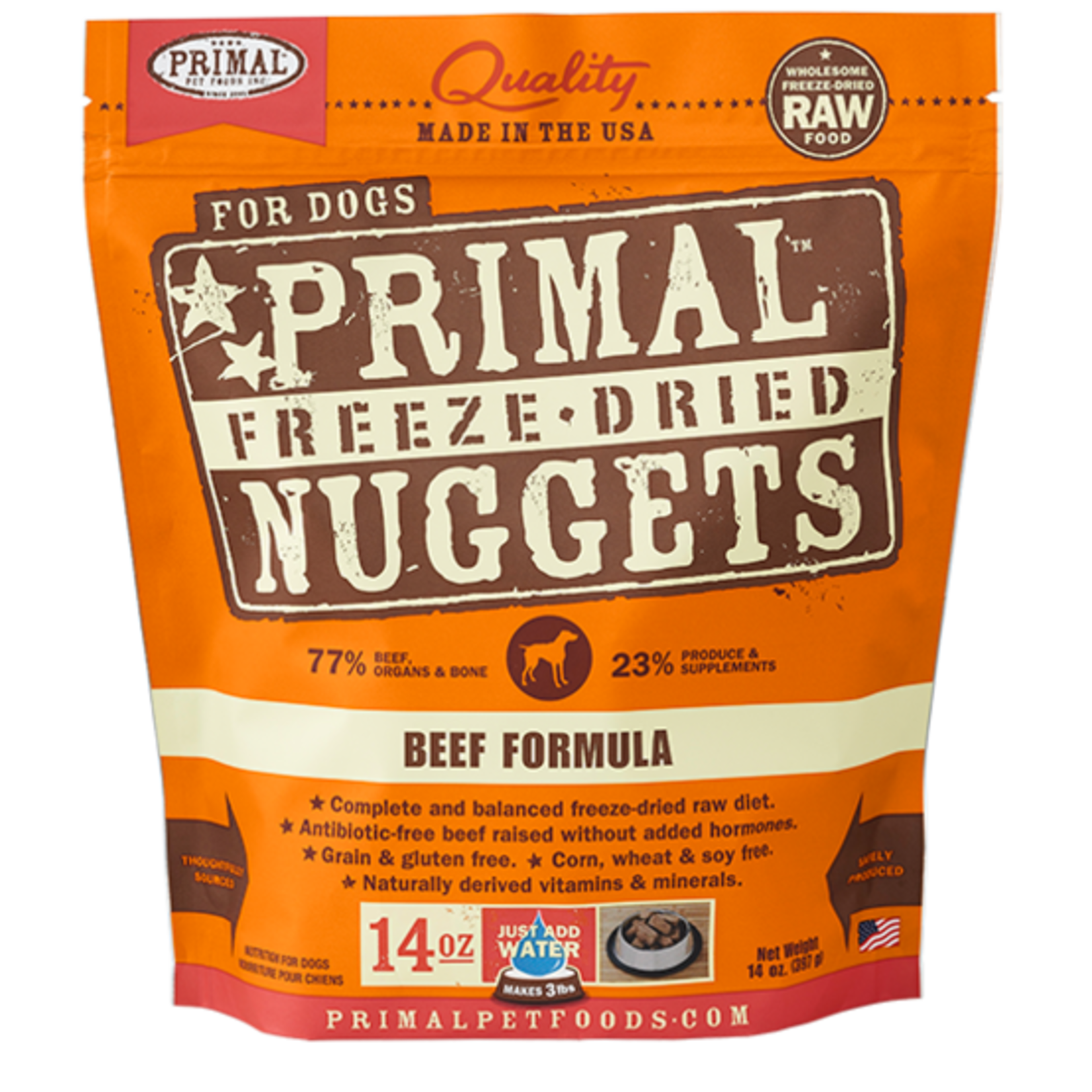 Primal Pet Foods Primal Dog Freeze-dried Beef Nuggets 14 OZ