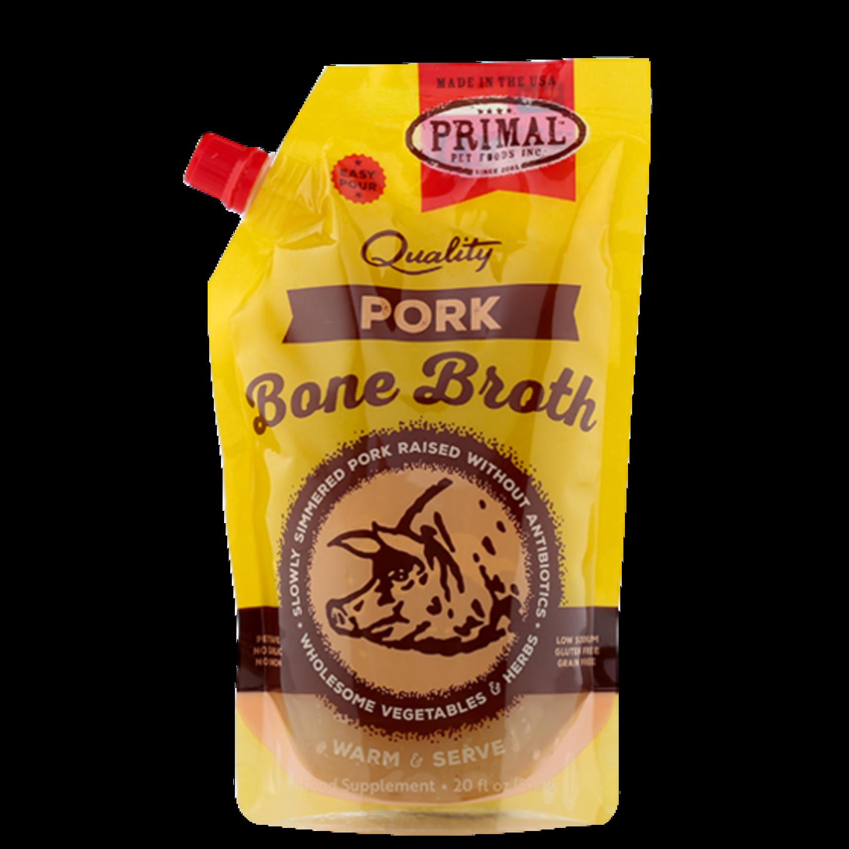 Primal Pet Foods Primal Frozen Bone Broth Pork 20 OZ