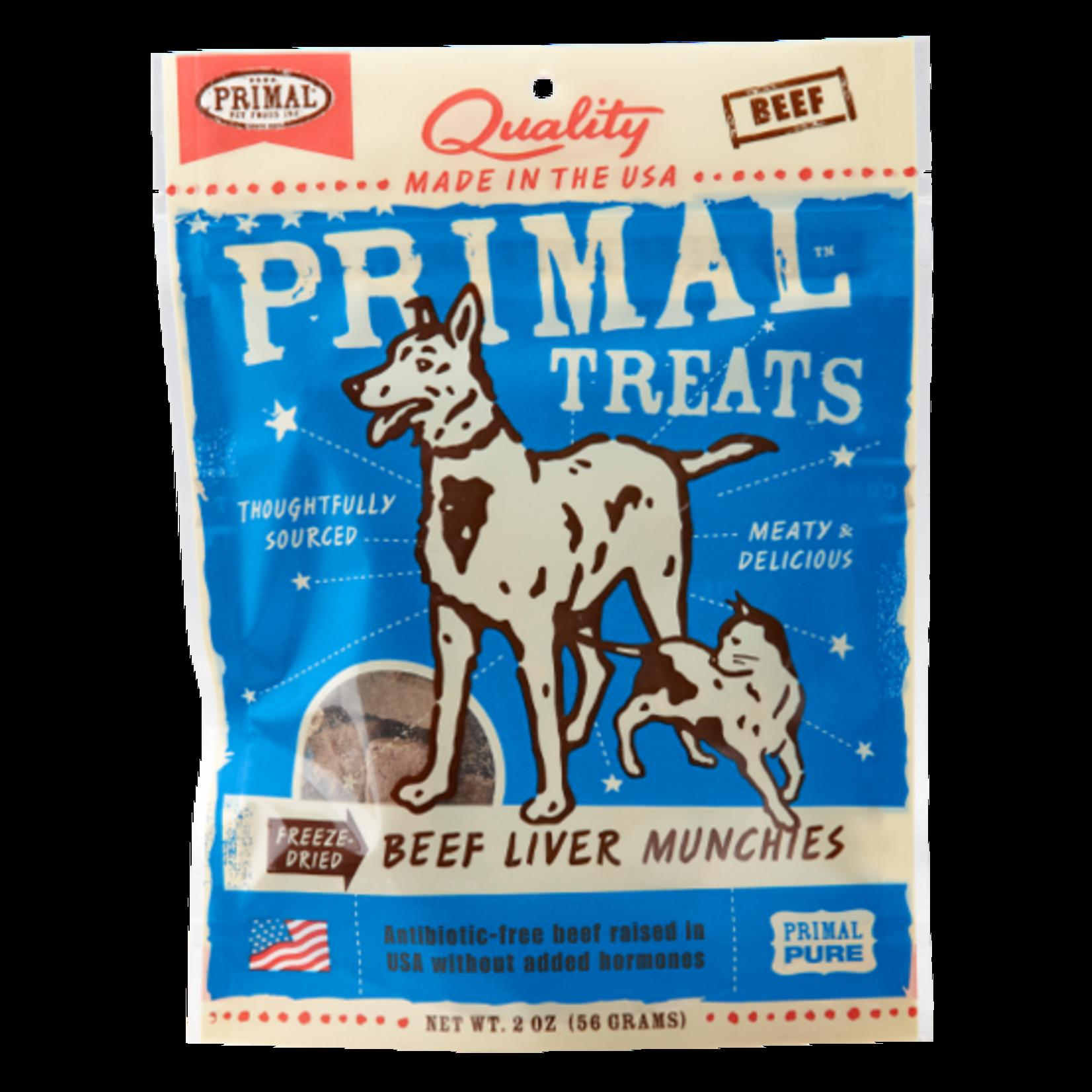 Primal Pet Foods Primal Freeze-dried Beef Liver Munchies 2 OZ