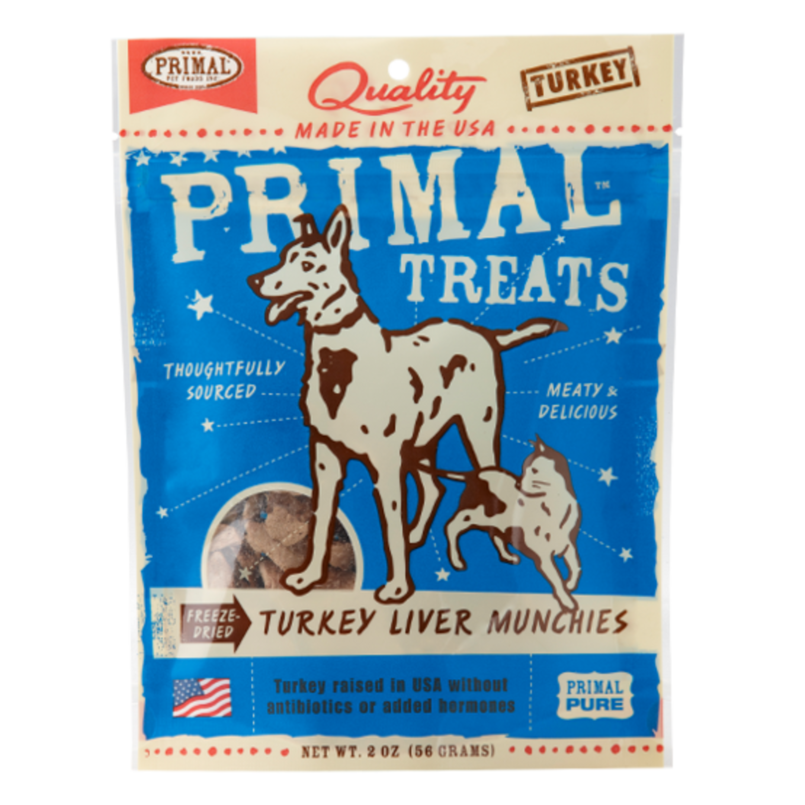 Primal Pet Foods Primal Freeze-dried Turkey Liver Munchies 2 OZ