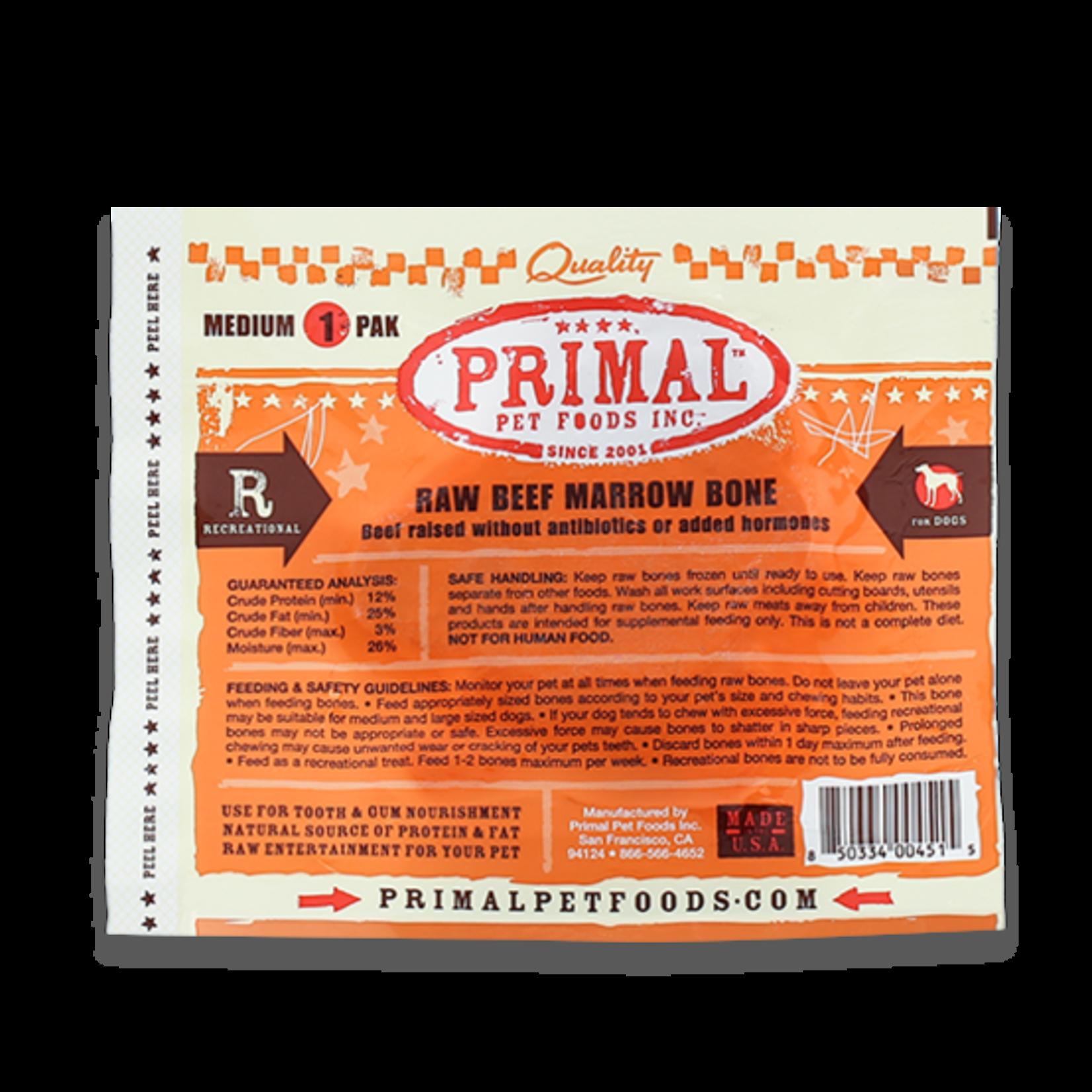 Primal Pet Foods Primal Frozen Raw Beef Bone Medium