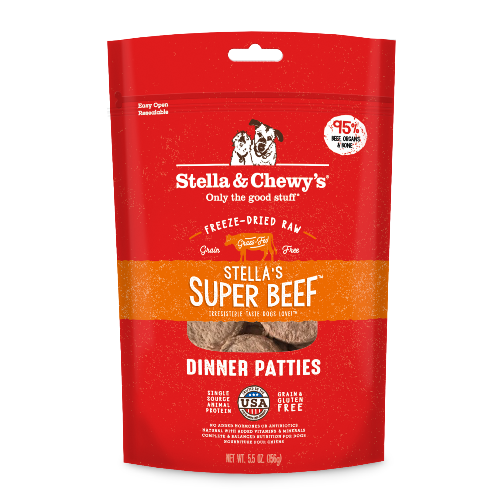 Stella & Chewys Stella Freeze-dried Dog Dinner Beef 14 OZ