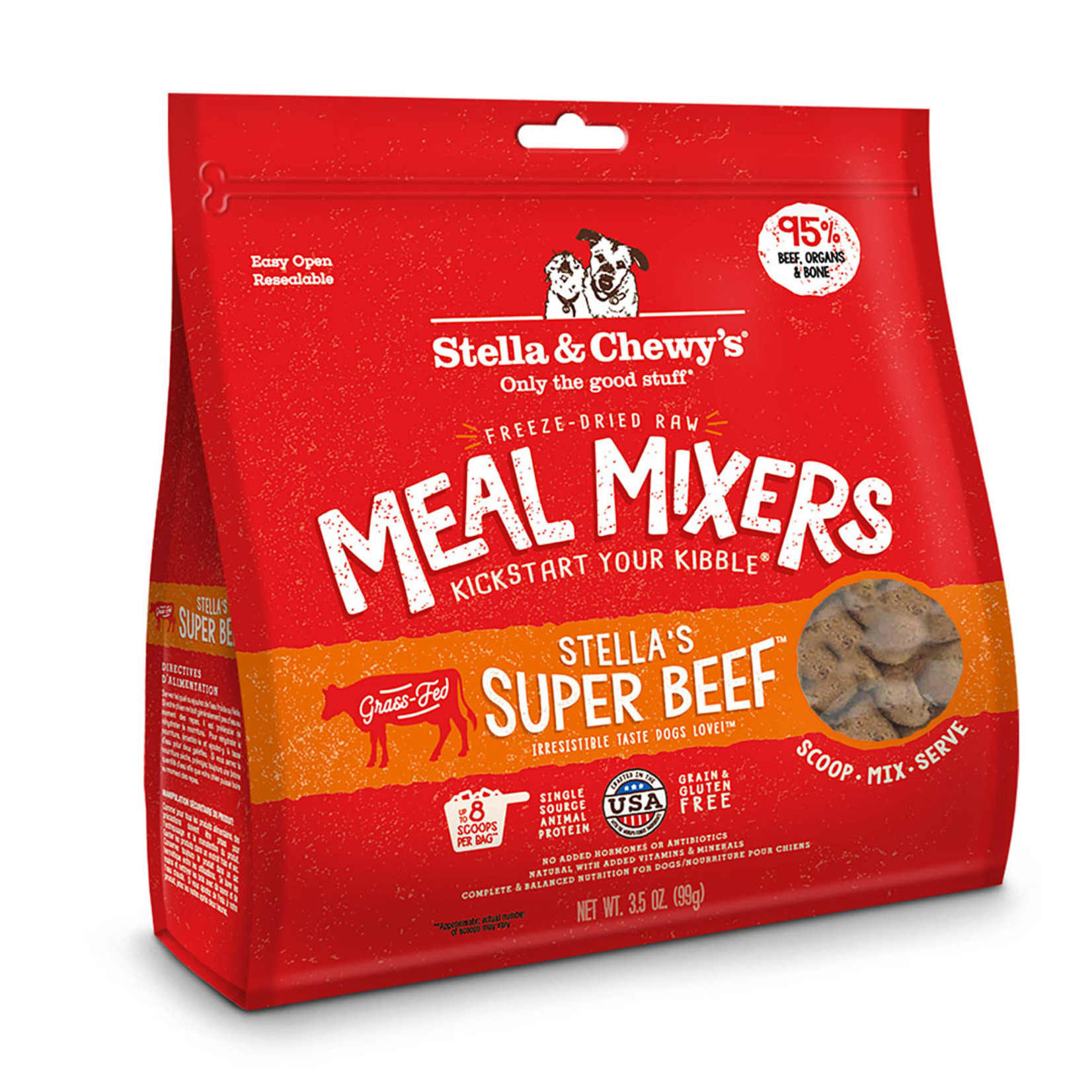 Stella & Chewys Stella Freeze-dried Meal Mixers Beef 3.5 OZ