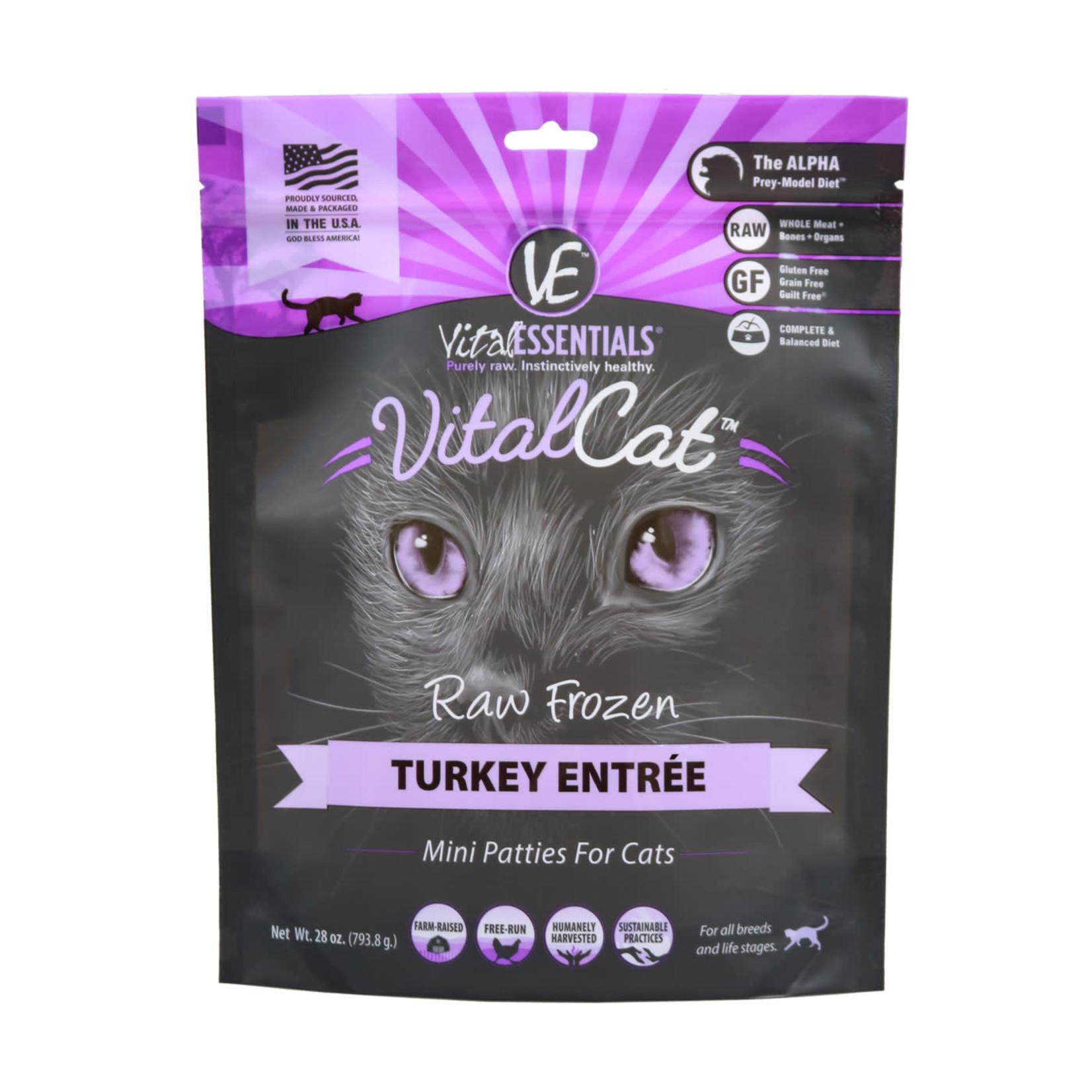 Vital Essentials Vital Essentials Cat Frozen Mini Patties Turkey 1.75#