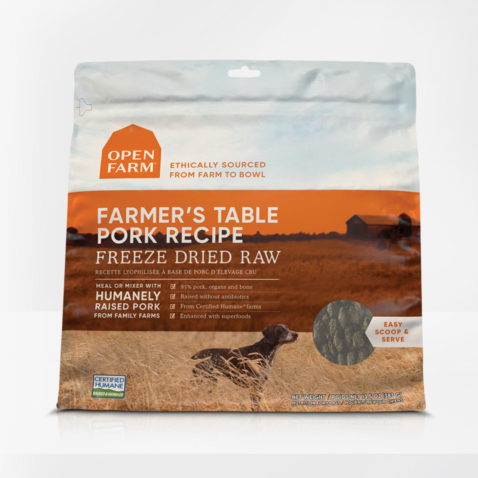 Open Farm Open Farm Dog Freeze-dried Farmer's Table Pork 13.5 OZ
