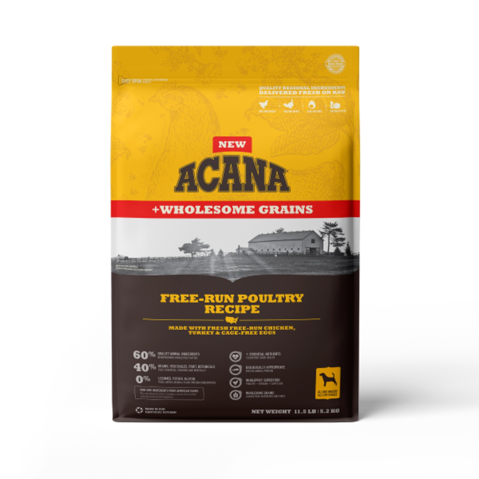 Champion Pet Foods Acana Dog Wholesome Grains Free Run Poultry 11.5#