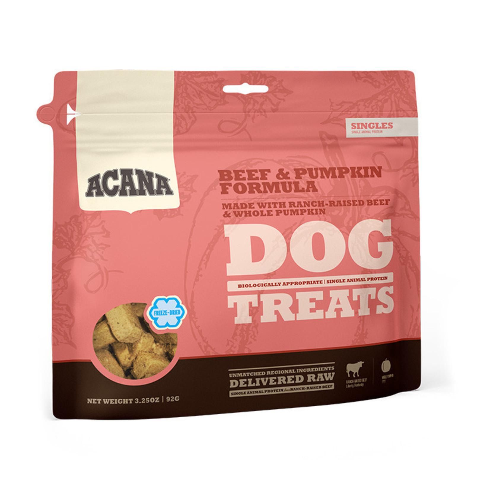 Champion Pet Foods Acana Dog Freeze-dried Beef & Pumpkin Treats 3.25 OZ
