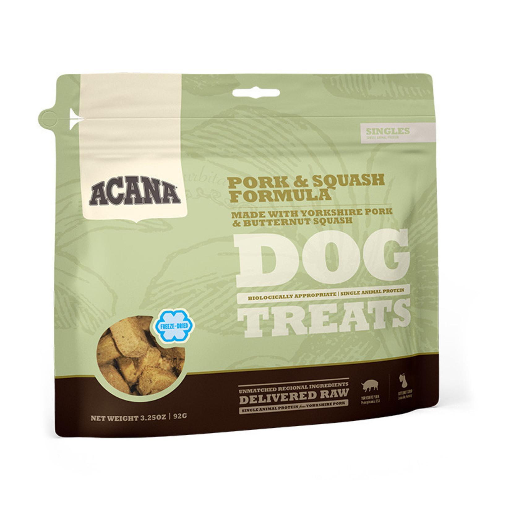 Champion Pet Foods Acana Dog Freeze-dried Pork & Squash Treat 3.25 OZ