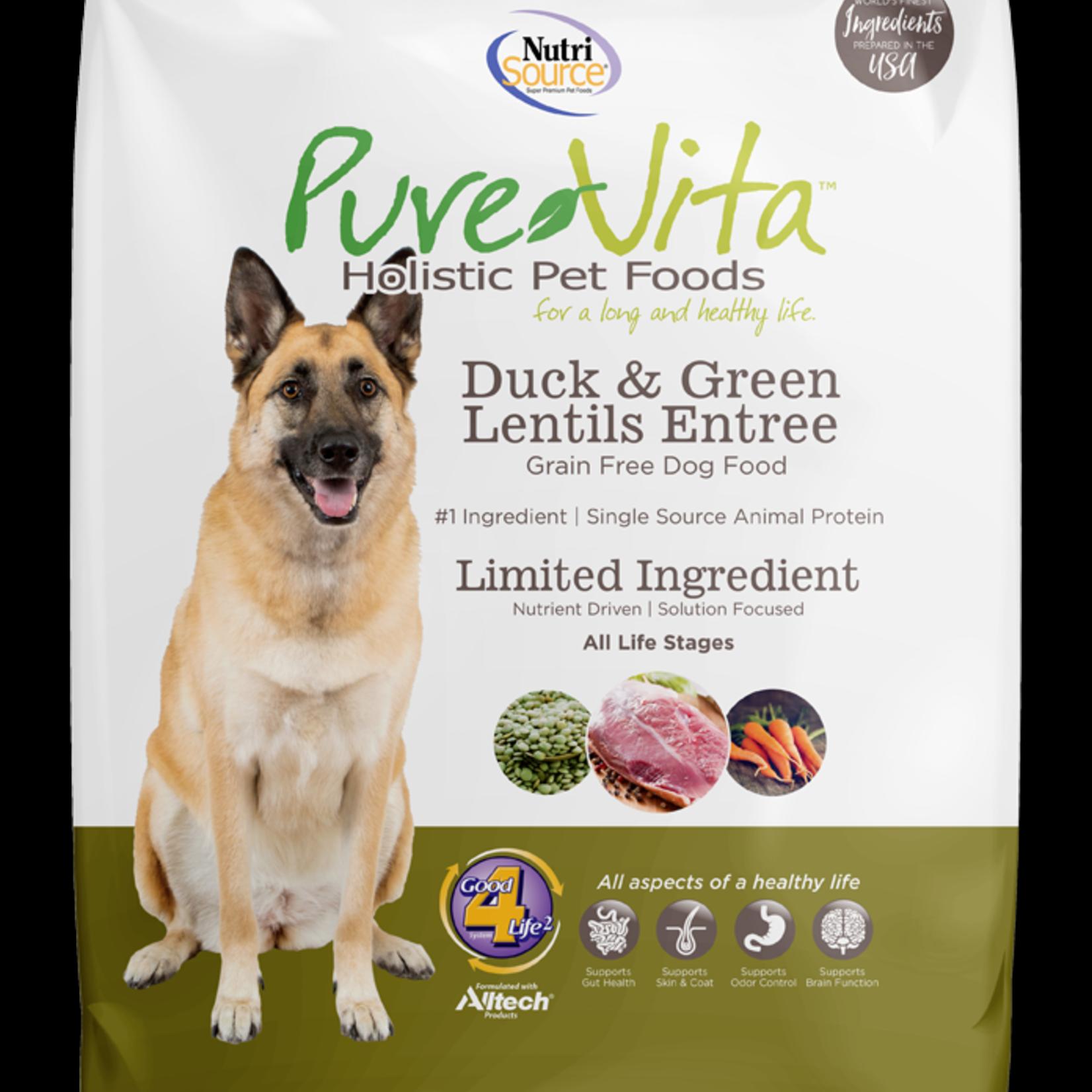 PureVita Pure Vita Dog GF Duck & Green Lentils 15#