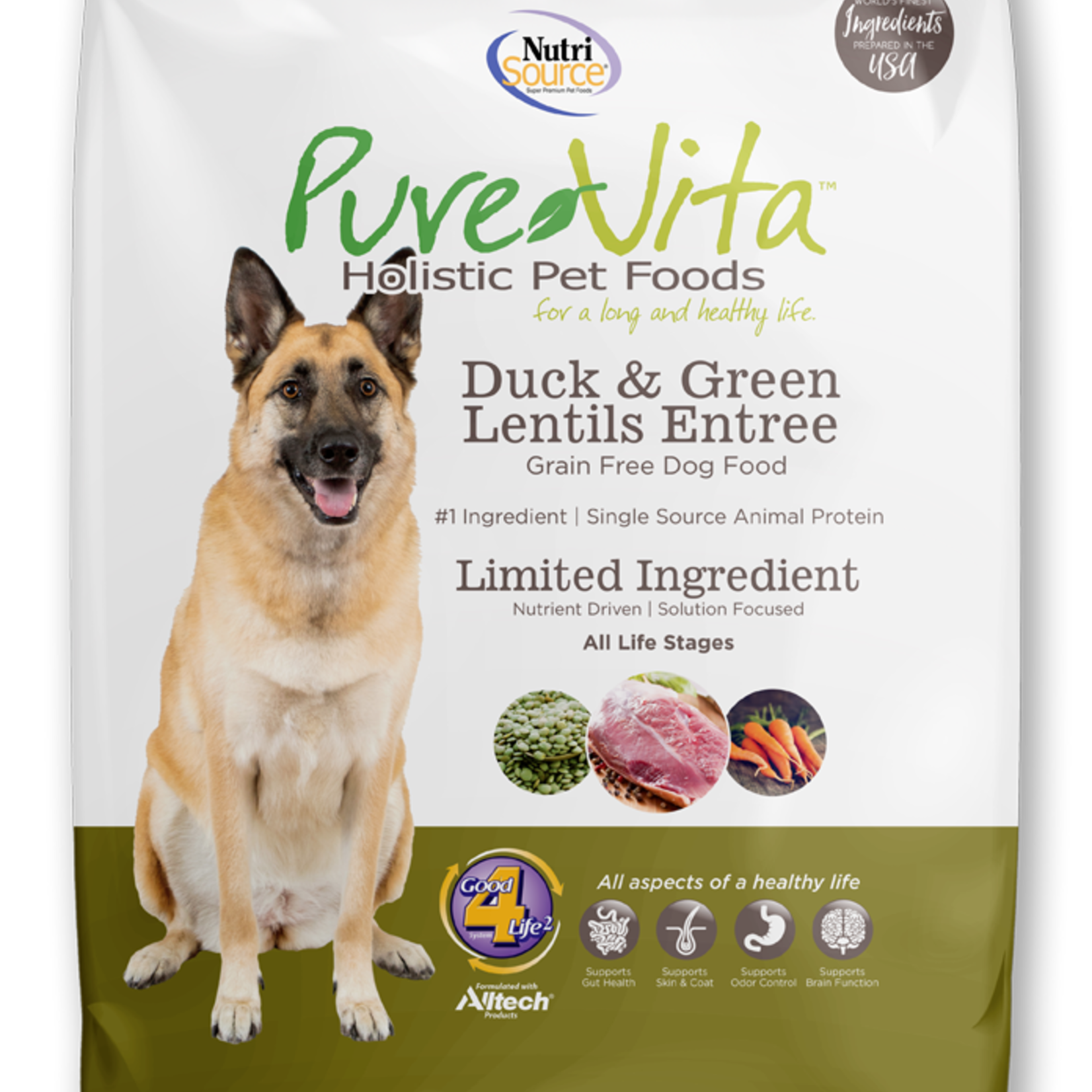 PureVita Pure Vita Dog GF Duck & Green Lentils 25#