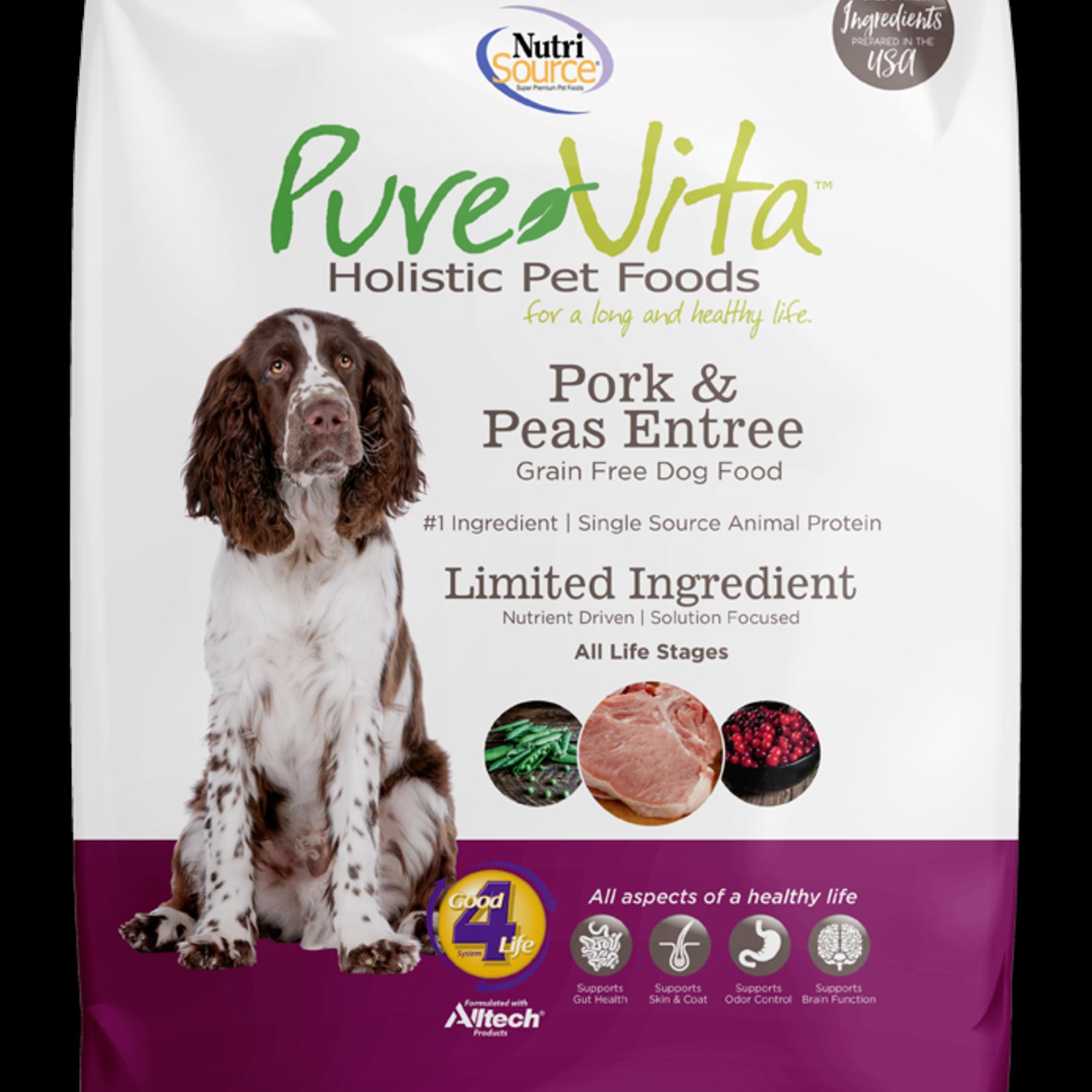 PureVita Pure Vita Dog GF Pork & Peas 25#