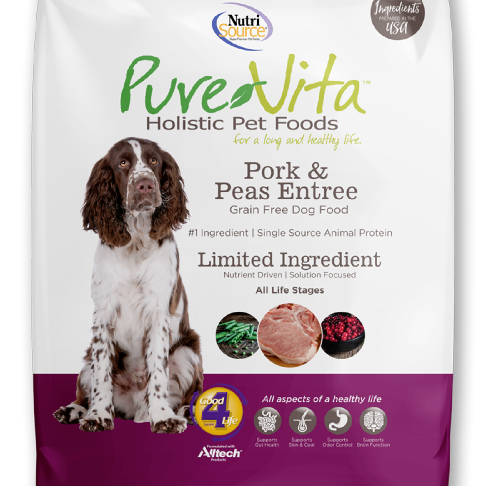 PureVita Pure Vita Dog GF Pork & Peas 5#