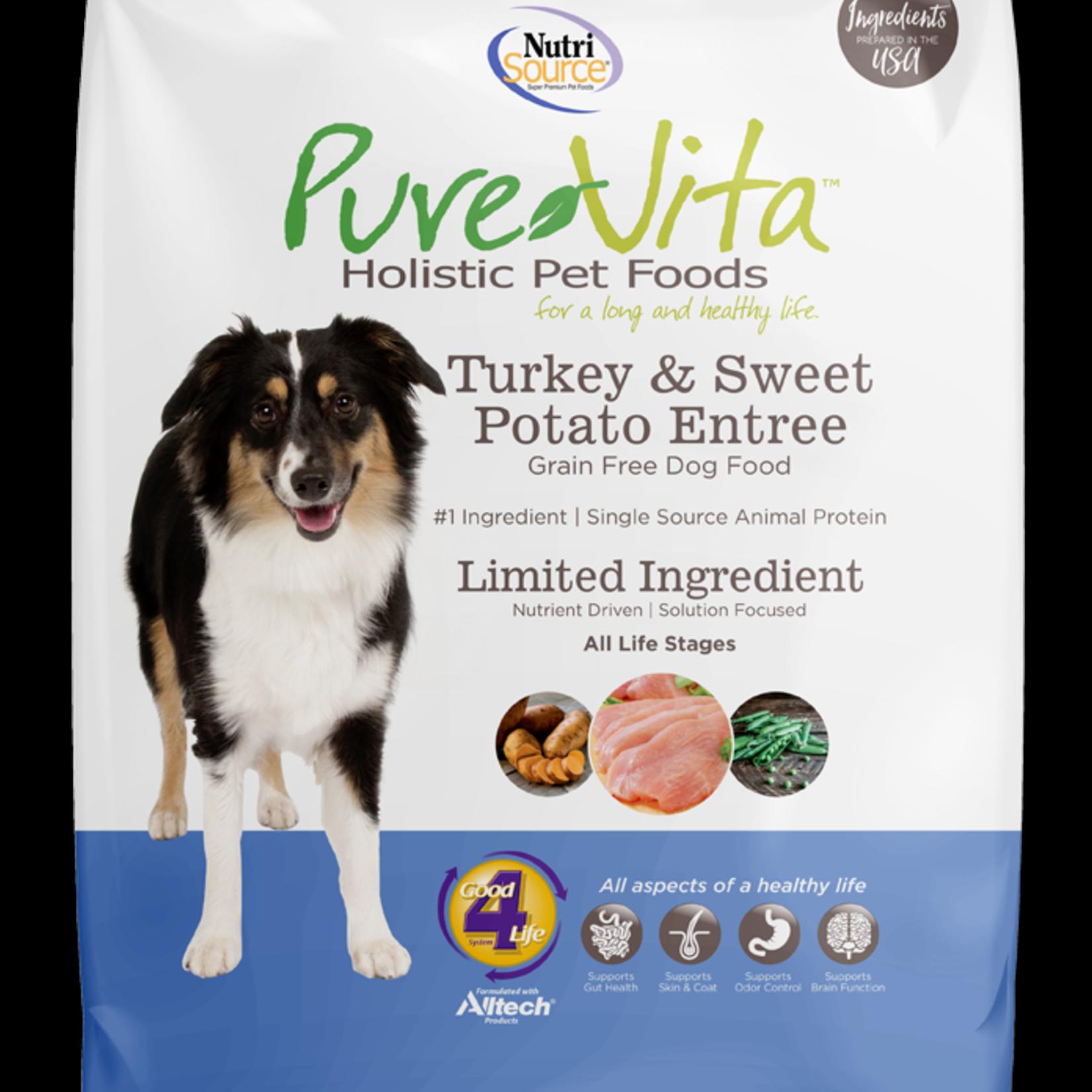 PureVita Pure Vita Dog GF Turkey & Sweet Potato 15#