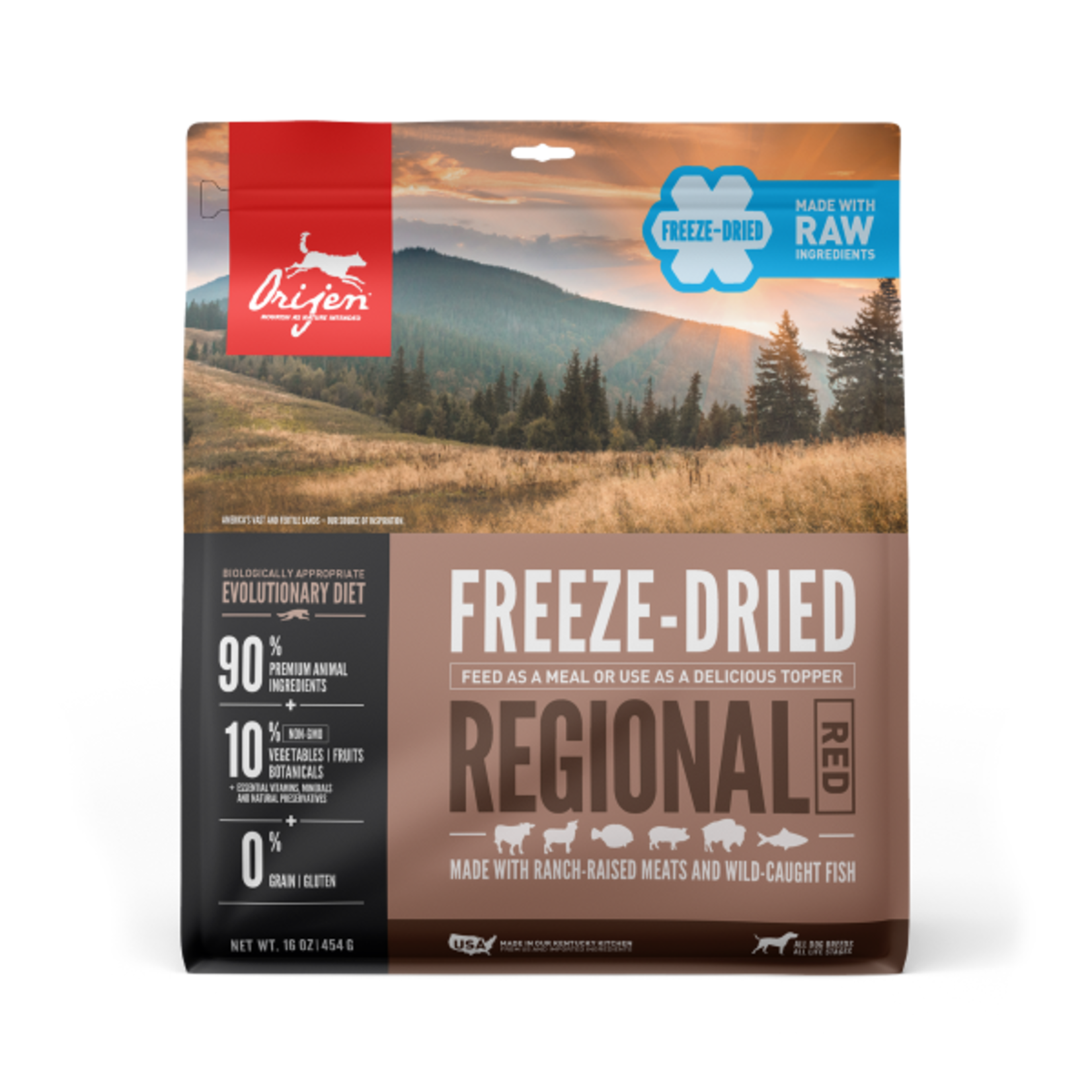 Champion Pet Foods Orijen Dog Freeze-dried Regional Red Diet 16 OZ