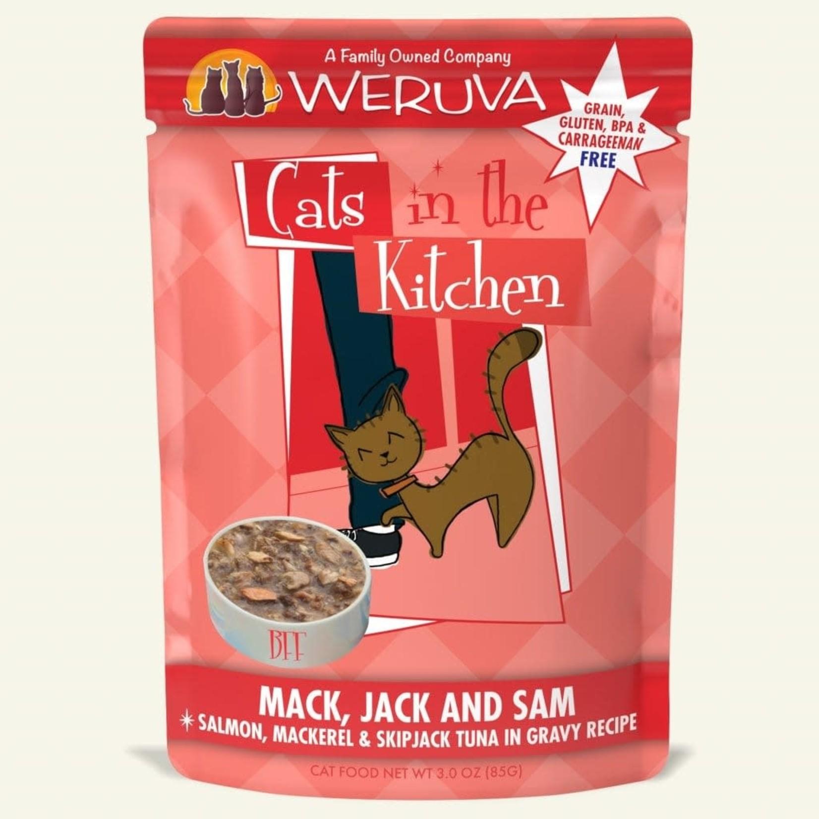 Weruva Inc. Cats In The Kitchen Mack, Jack & Sam 3 OZ Pouch