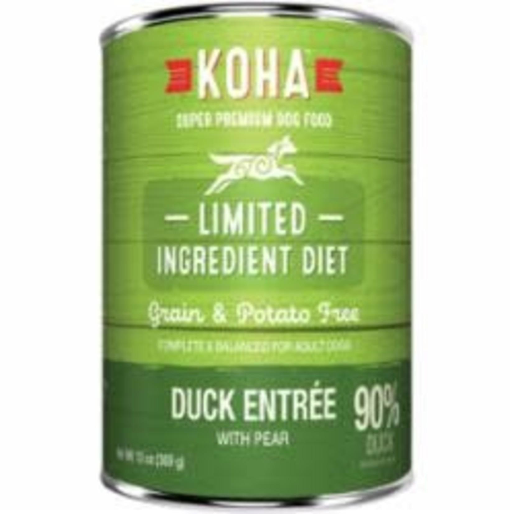 Koha Koha Dog Grain Free Limited Ingredient Duck Pate 13 OZ