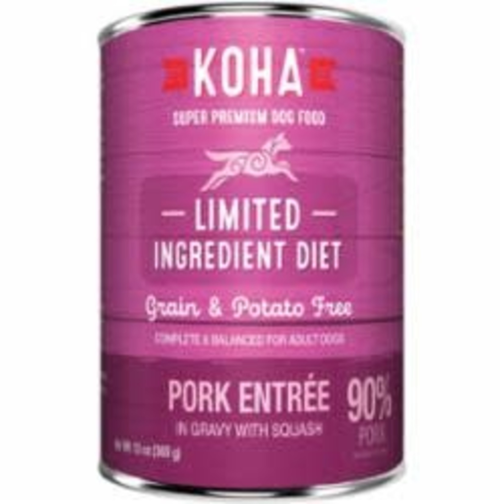 Koha Koha Dog Grain Free Limited Ingredient Pork Pate 13 OZ