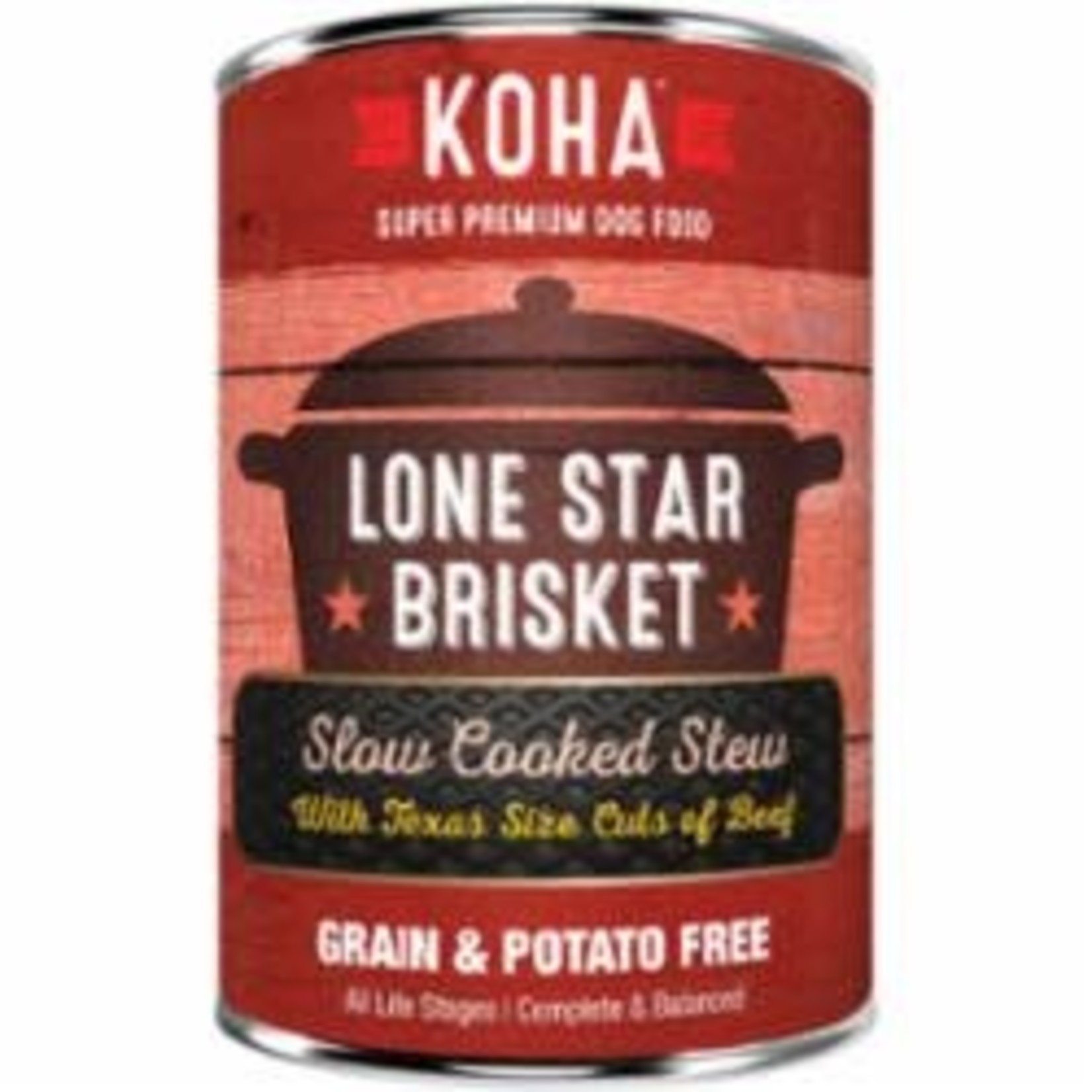 Koha Koha Dog Grain Free Stew Lone Star Brisket 12.7 OZ