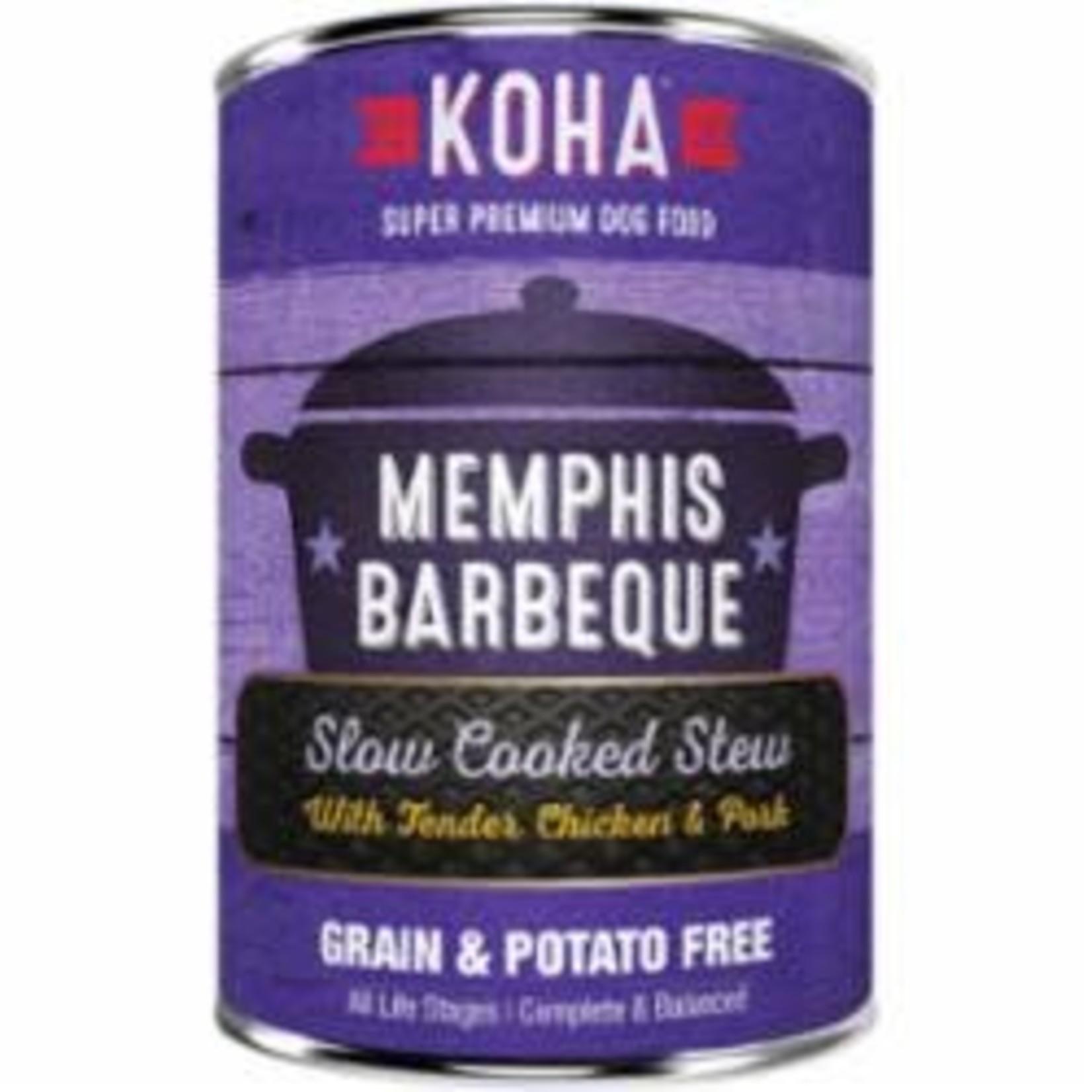 Koha Koha Dog Grain Free Stew Memphis Barbeque 12.7 OZ