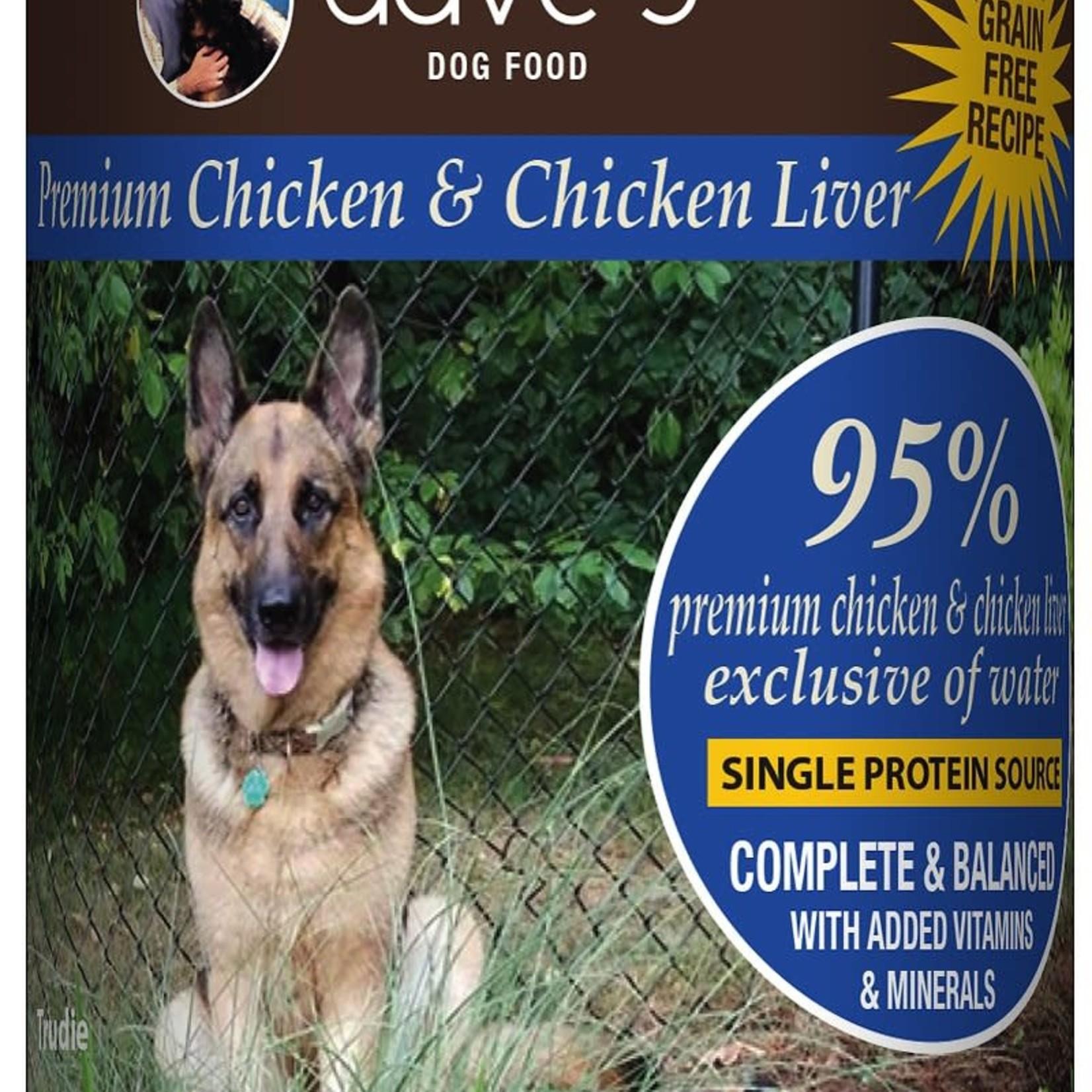 Daves Pet Food Dave's Dog Grain Free 95% Premium Chicken 13 OZ