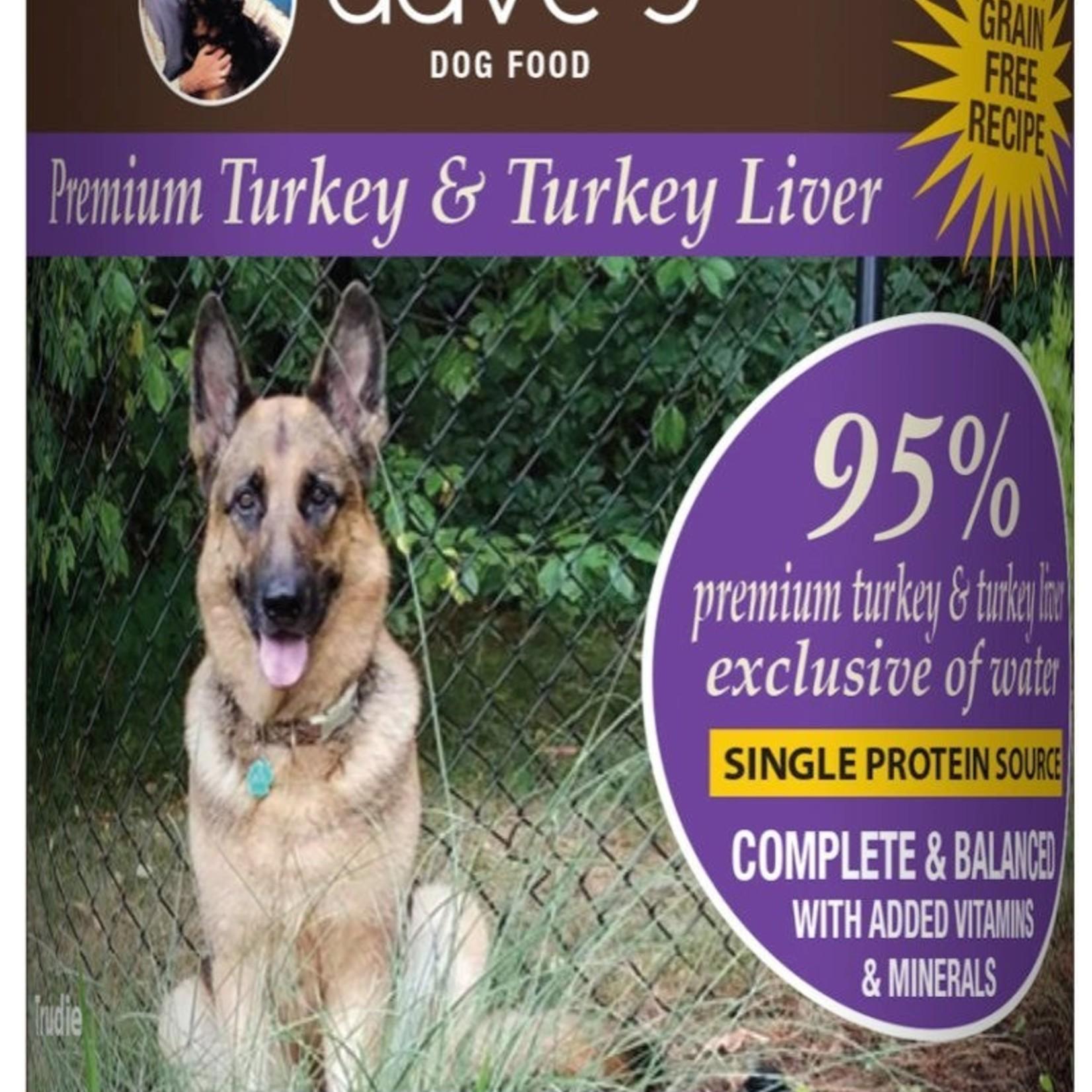 Daves Pet Food Dave's Dog Grain Free 95% Premium Turkey 13 OZ