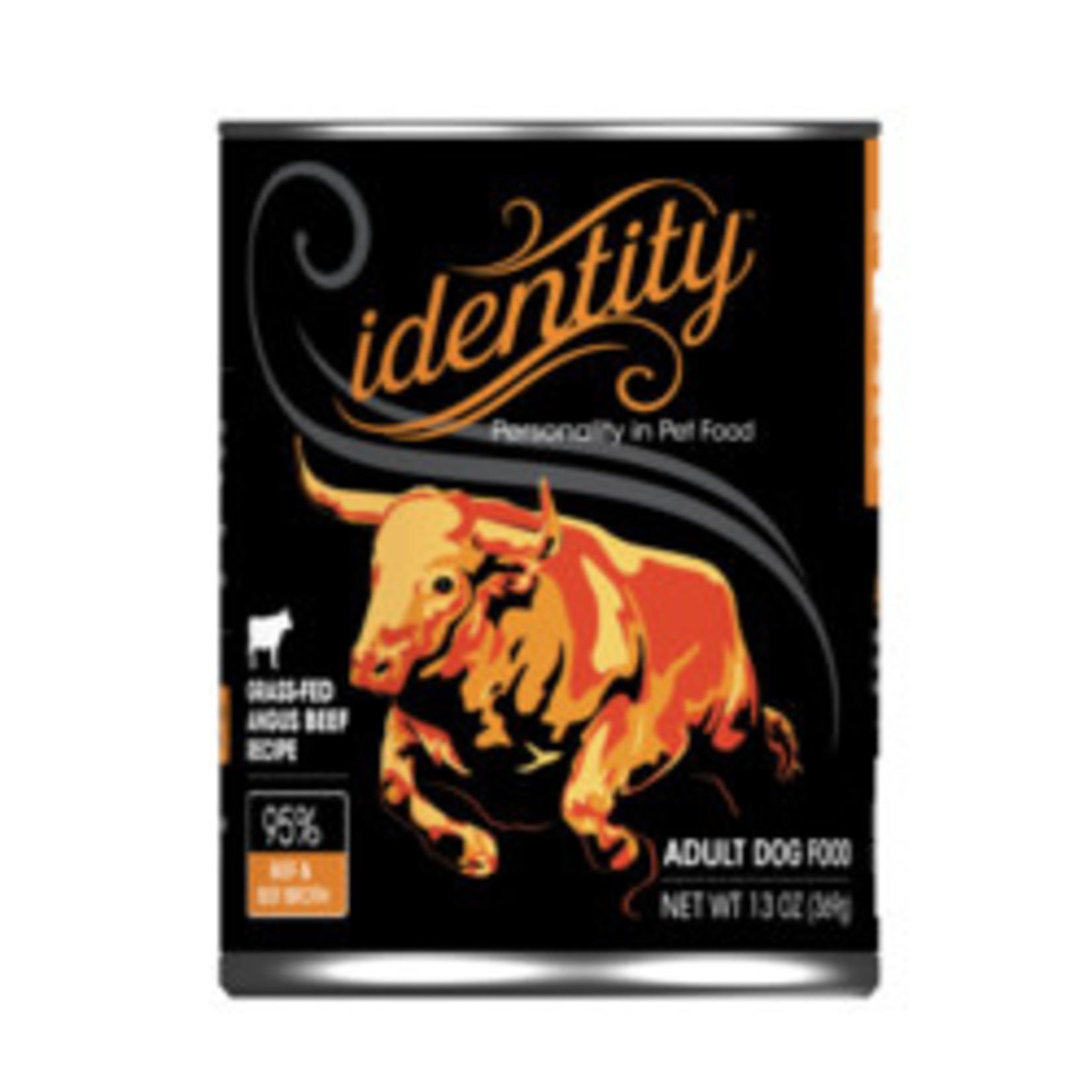 Identity Identity Dog Grain Free Grass Fed Angus Beef 13 OZ