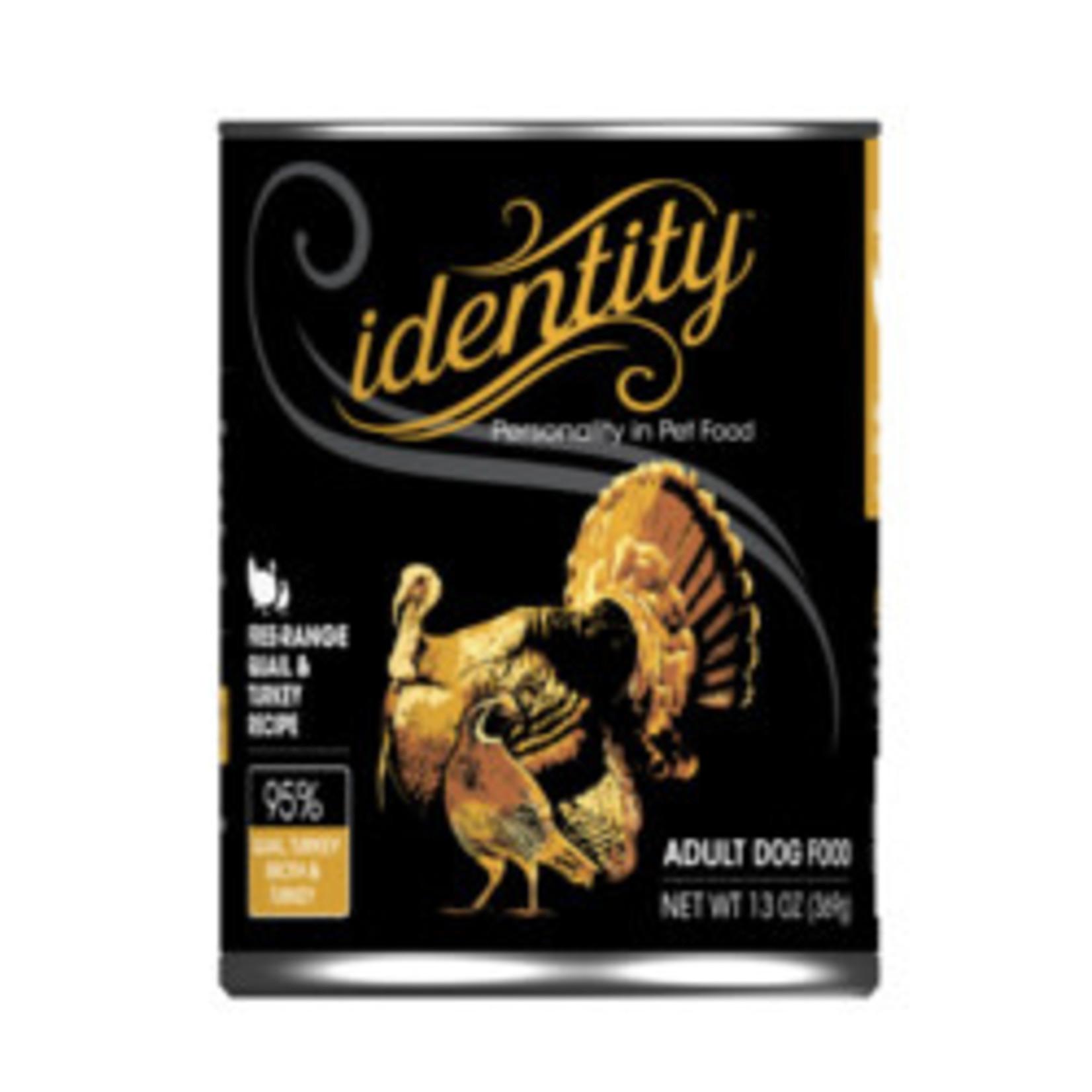 Identity Identity Dog Grain Free Free Run Quail & Turkey 13 OZ