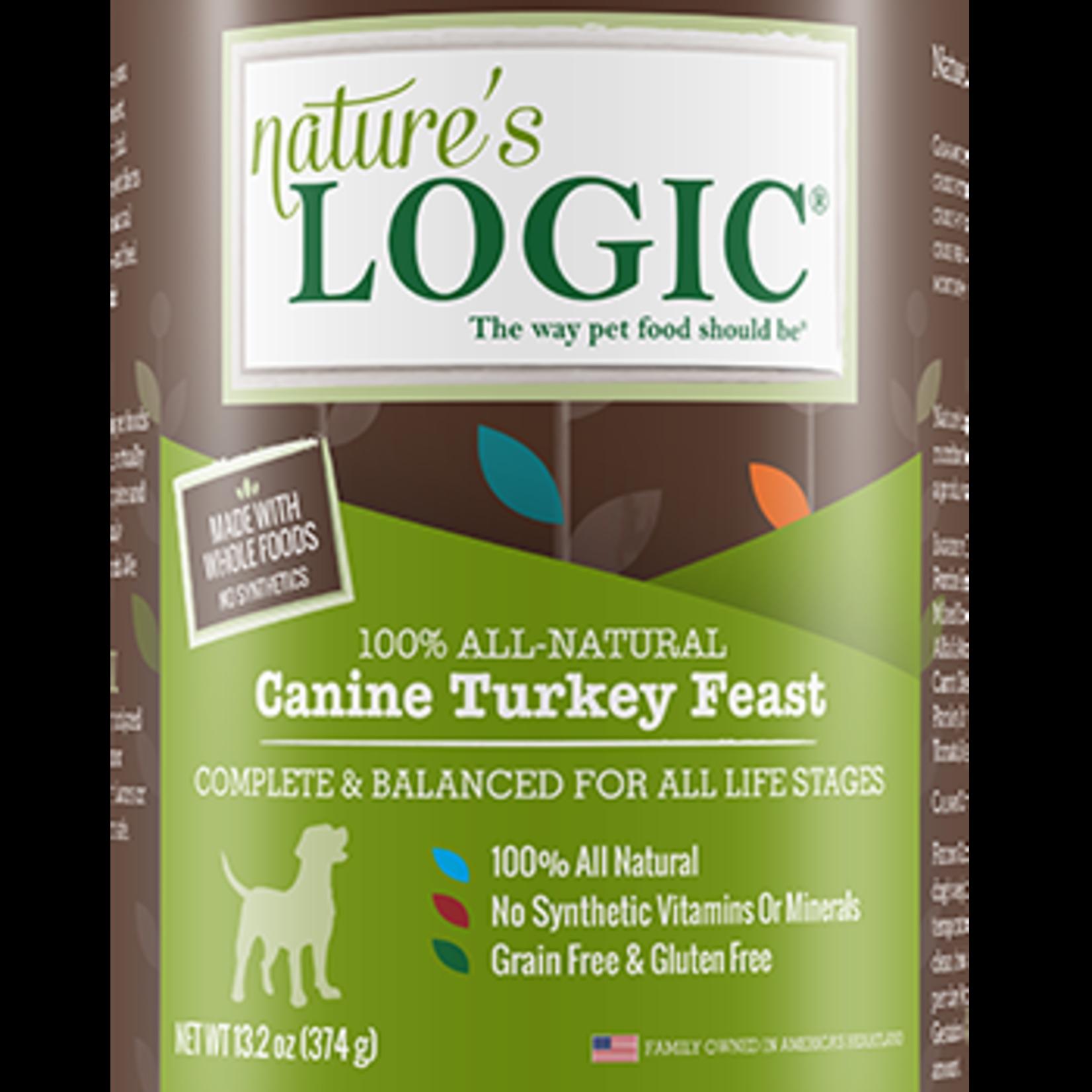 Natures Logic Natures Logic Dog Grain Free Turkey Feast 13.2 OZ