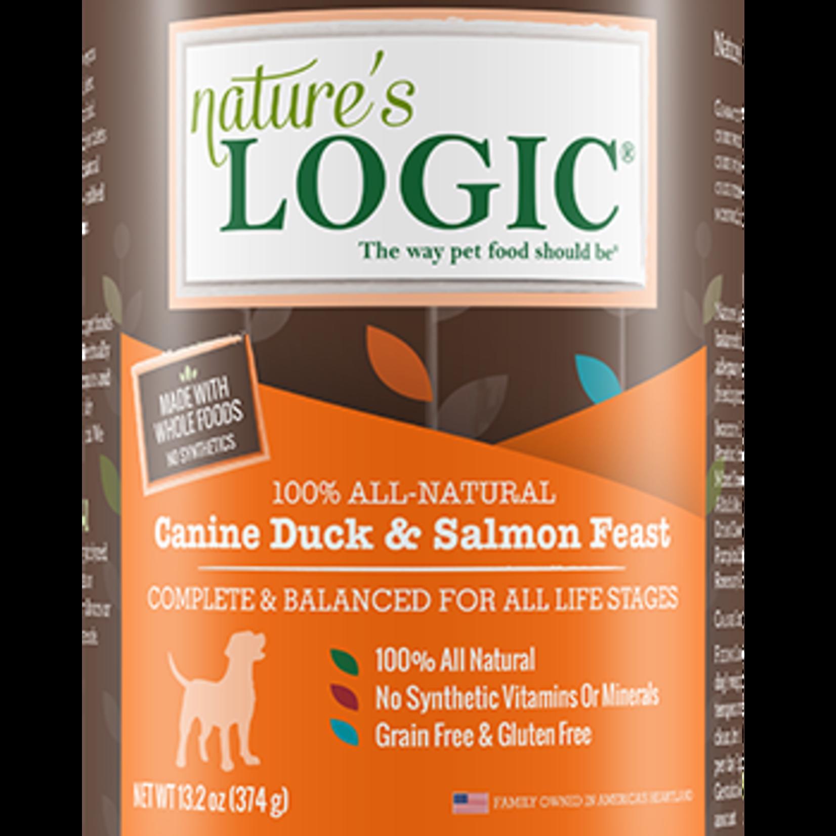 Natures Logic Natures Logic Dog Grain Free Duck & Salmon Feast 13.2 OZ