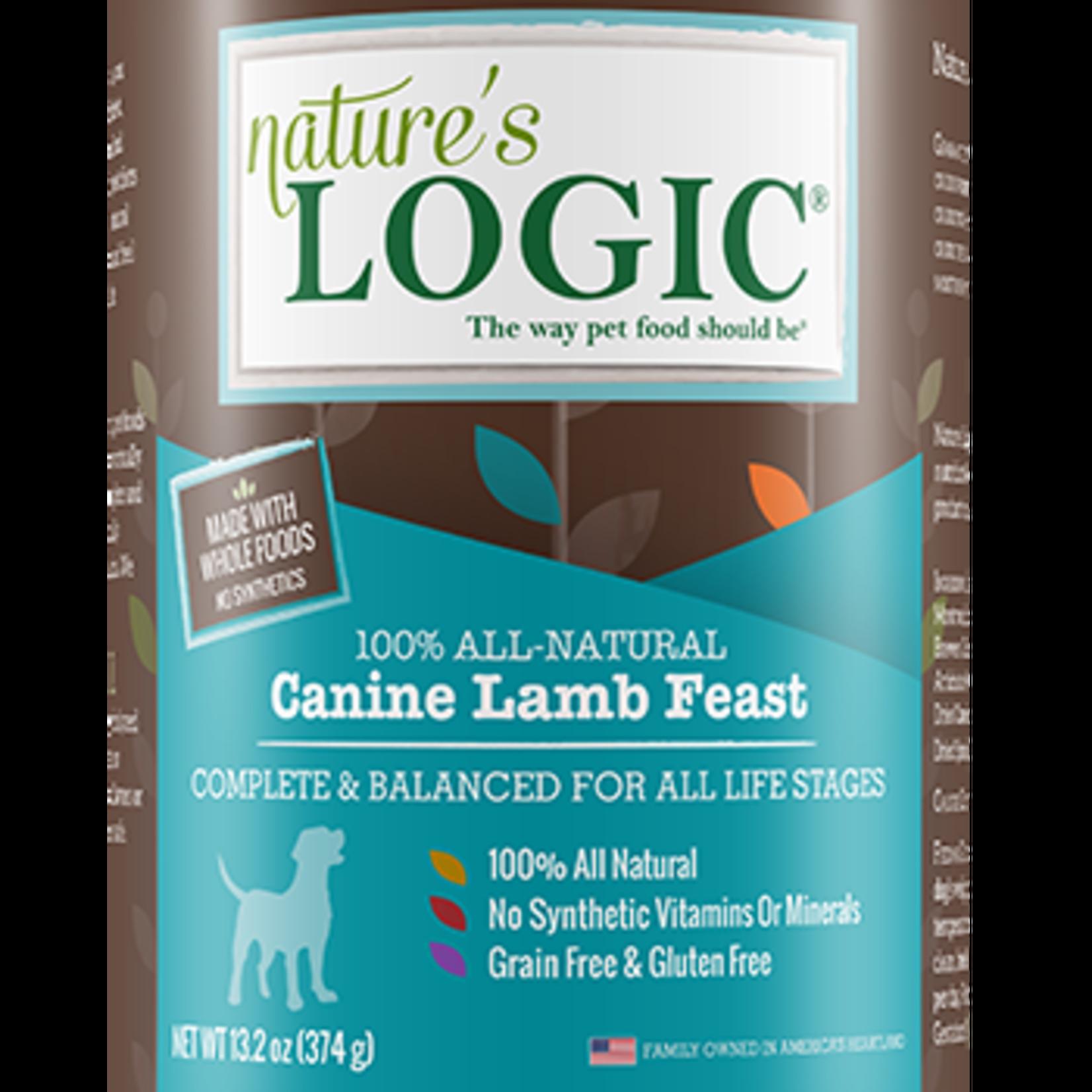 Natures Logic Natures Logic Dog Grain Free Lamb Feast 13.2 OZ