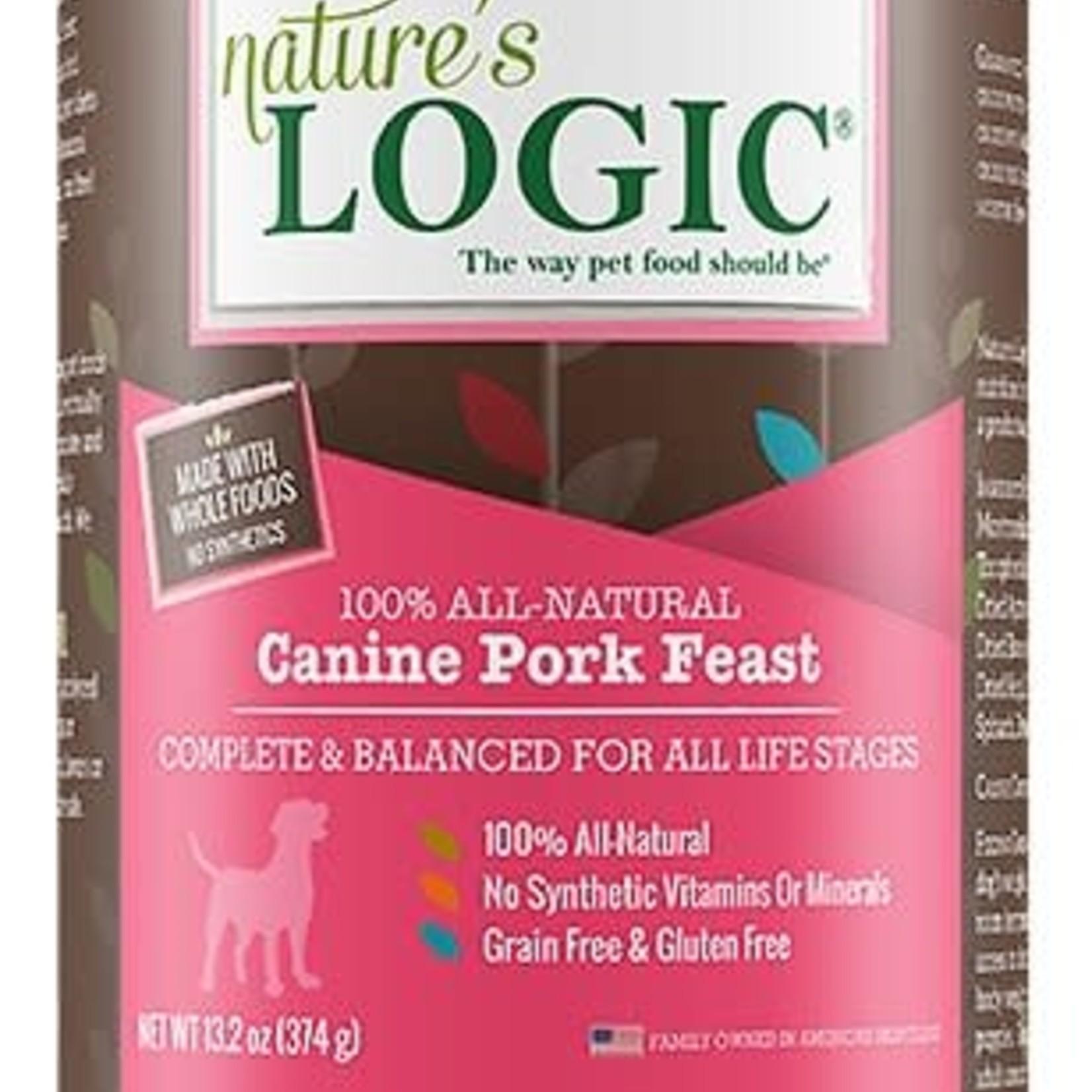 Natures Logic Natures Logic Dog Grain Free Pork Feast 13.2 OZ